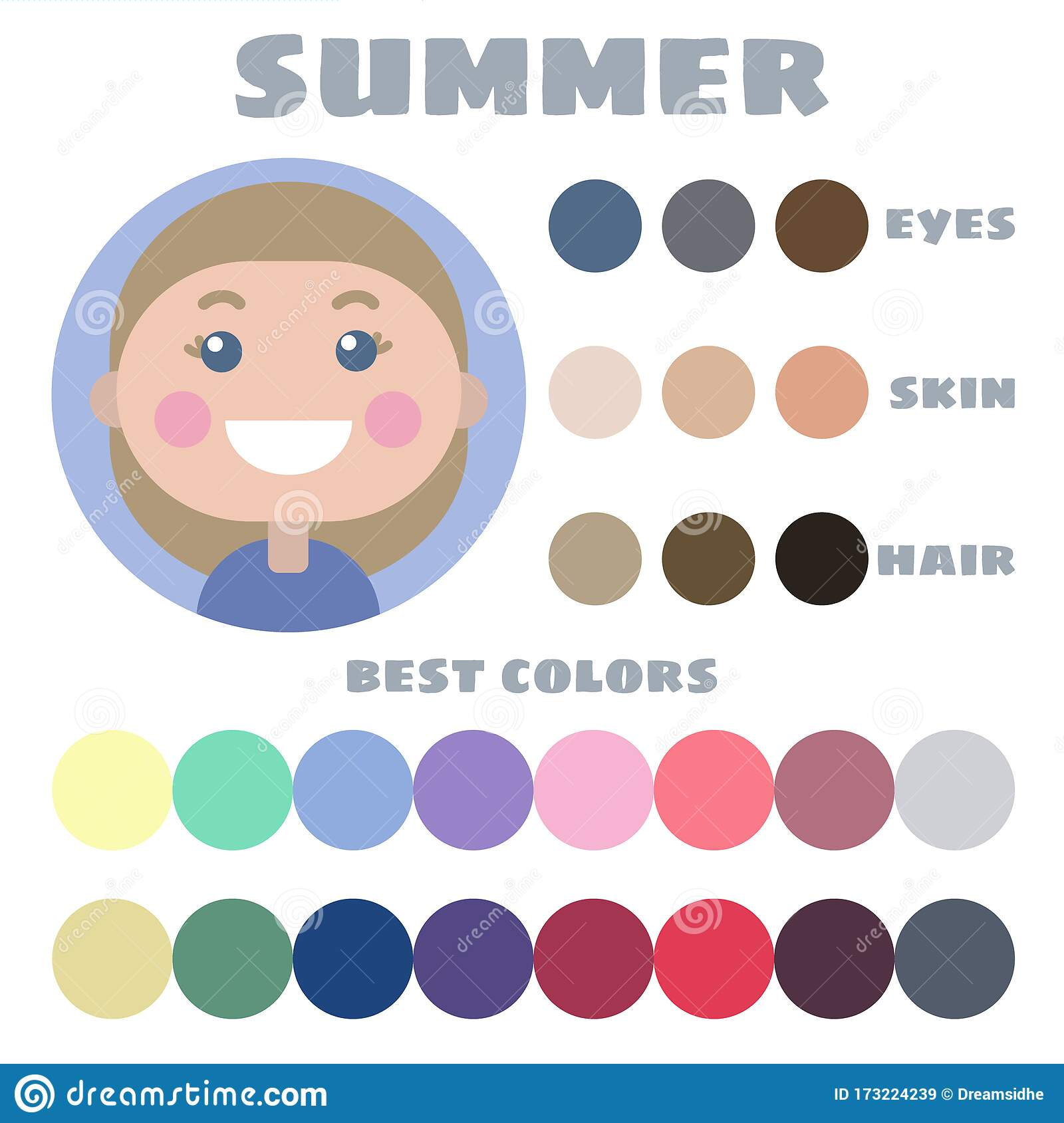 Hair Colors Palette Stock Illustrations 327 Hair Colors Palette Stock Illustrations Vectors Clipart Dreamstime