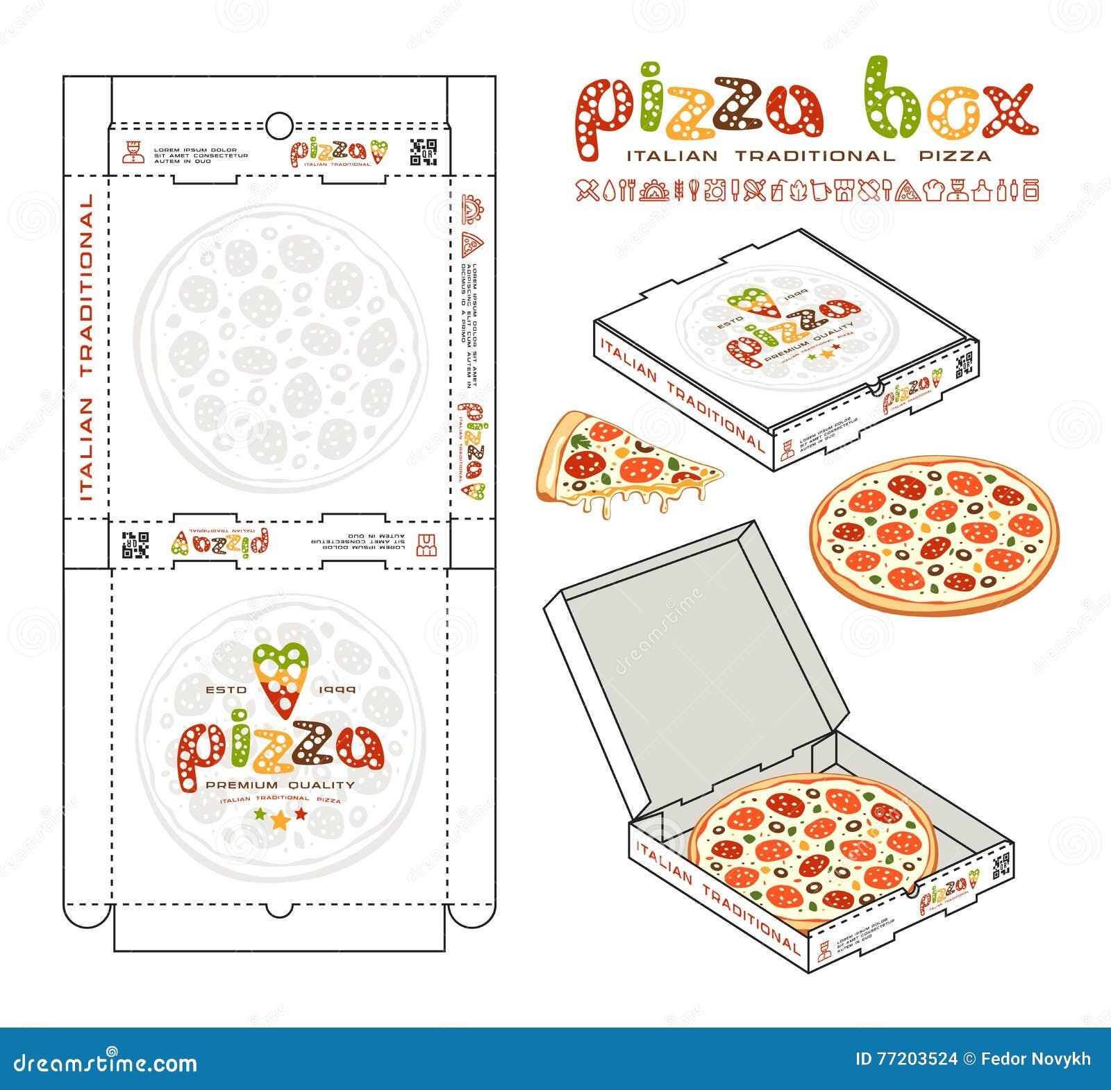 Excepcional Plantilla Mini Caja De Pizza Imágenes - Colección De ...