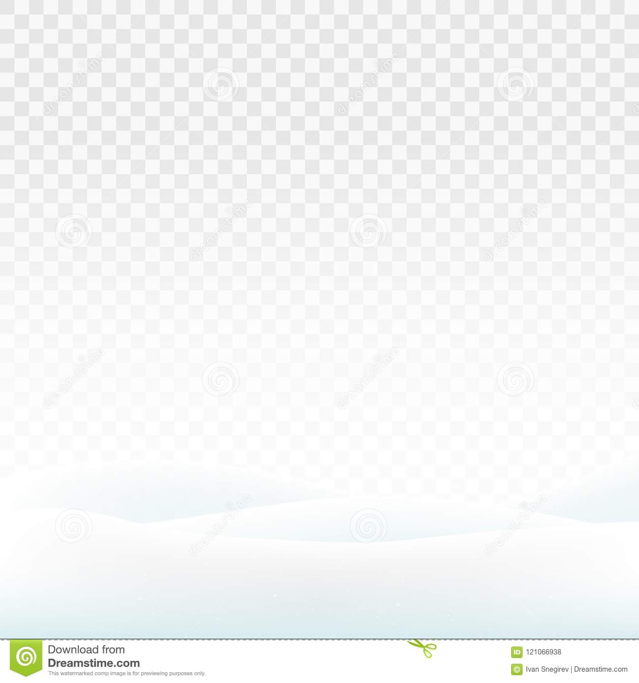 Stock vector illustration snowdrifts isolated on a transparent background. White snow. Snowy hills. The dunes of snow. EPS 10