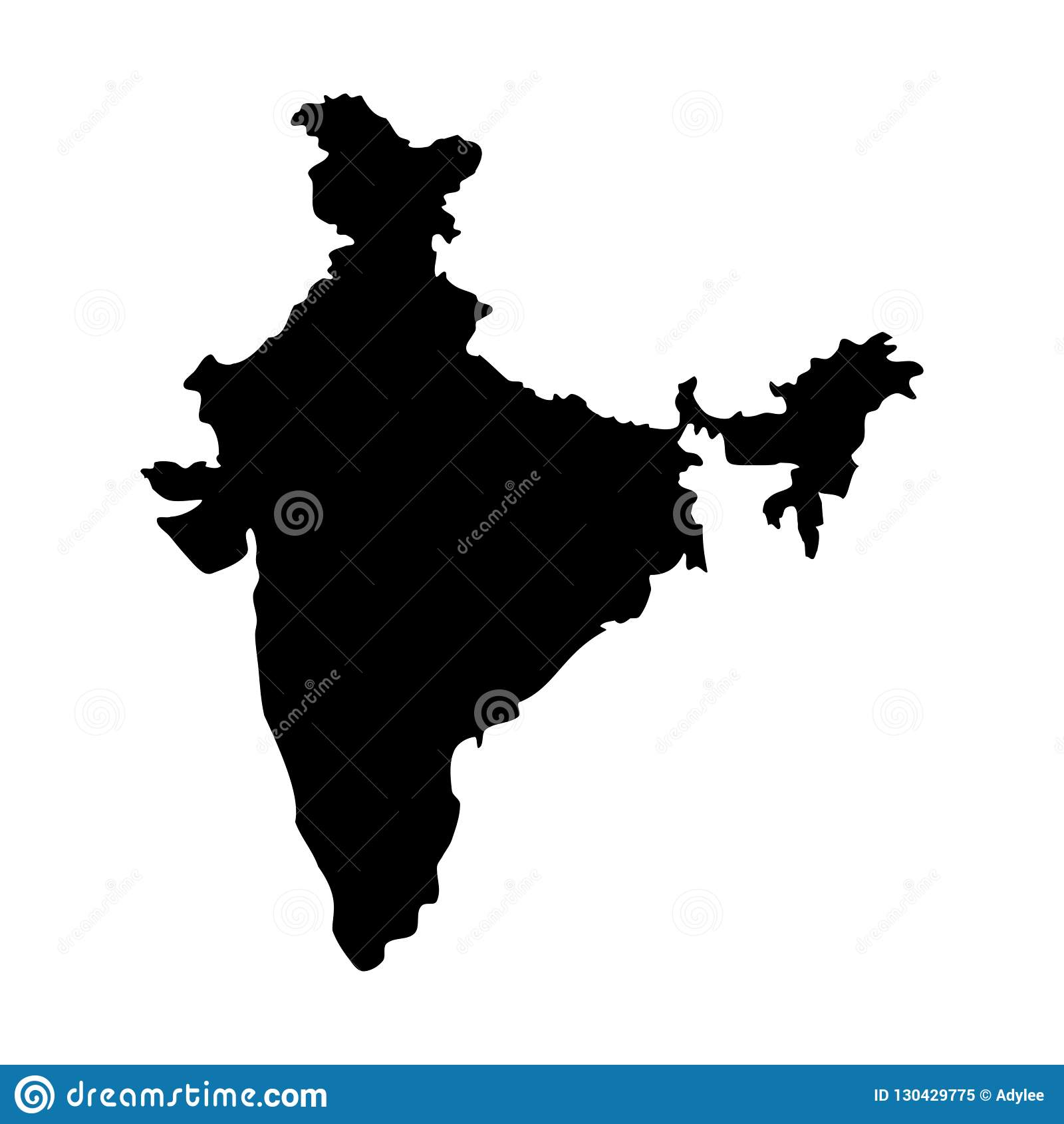 Stock Vector India Map Icon Vector Illustration 1 Stock