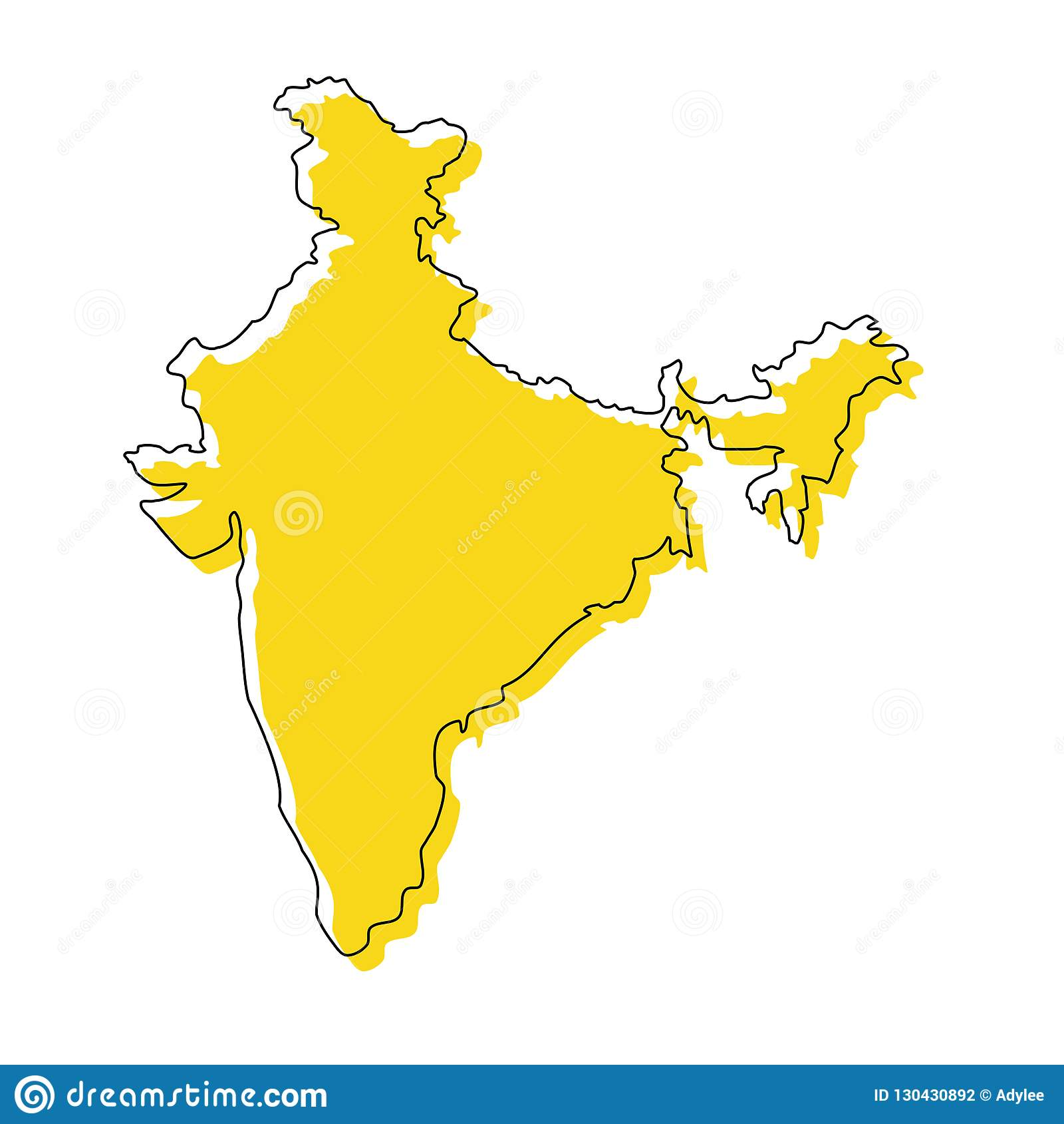 Stock Vector India Map Icon Vector Illustration 3 Stock Photo