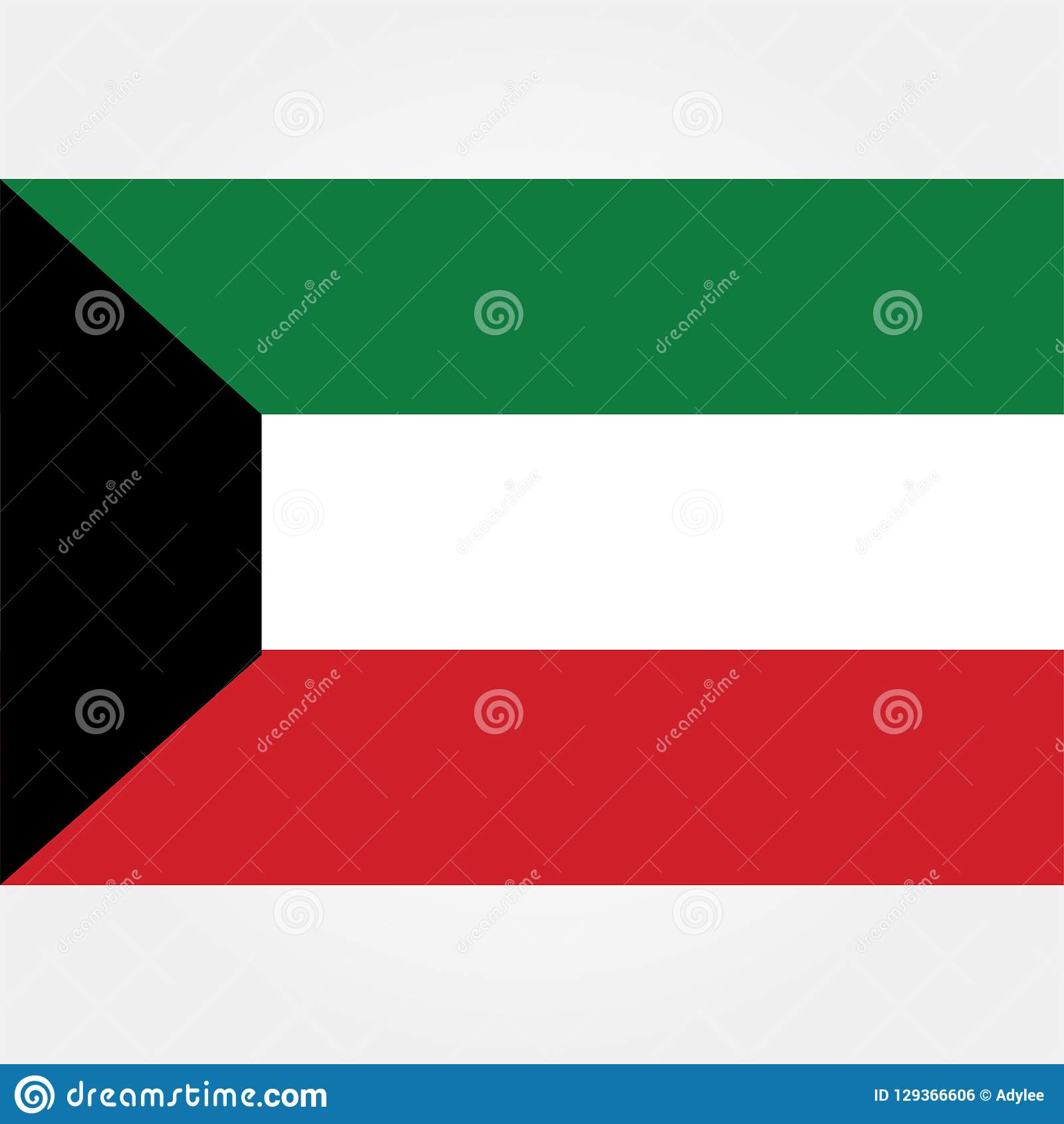 Stock Vector Kuwait Flag Icon 1 Stock Photo - Illustration of flag