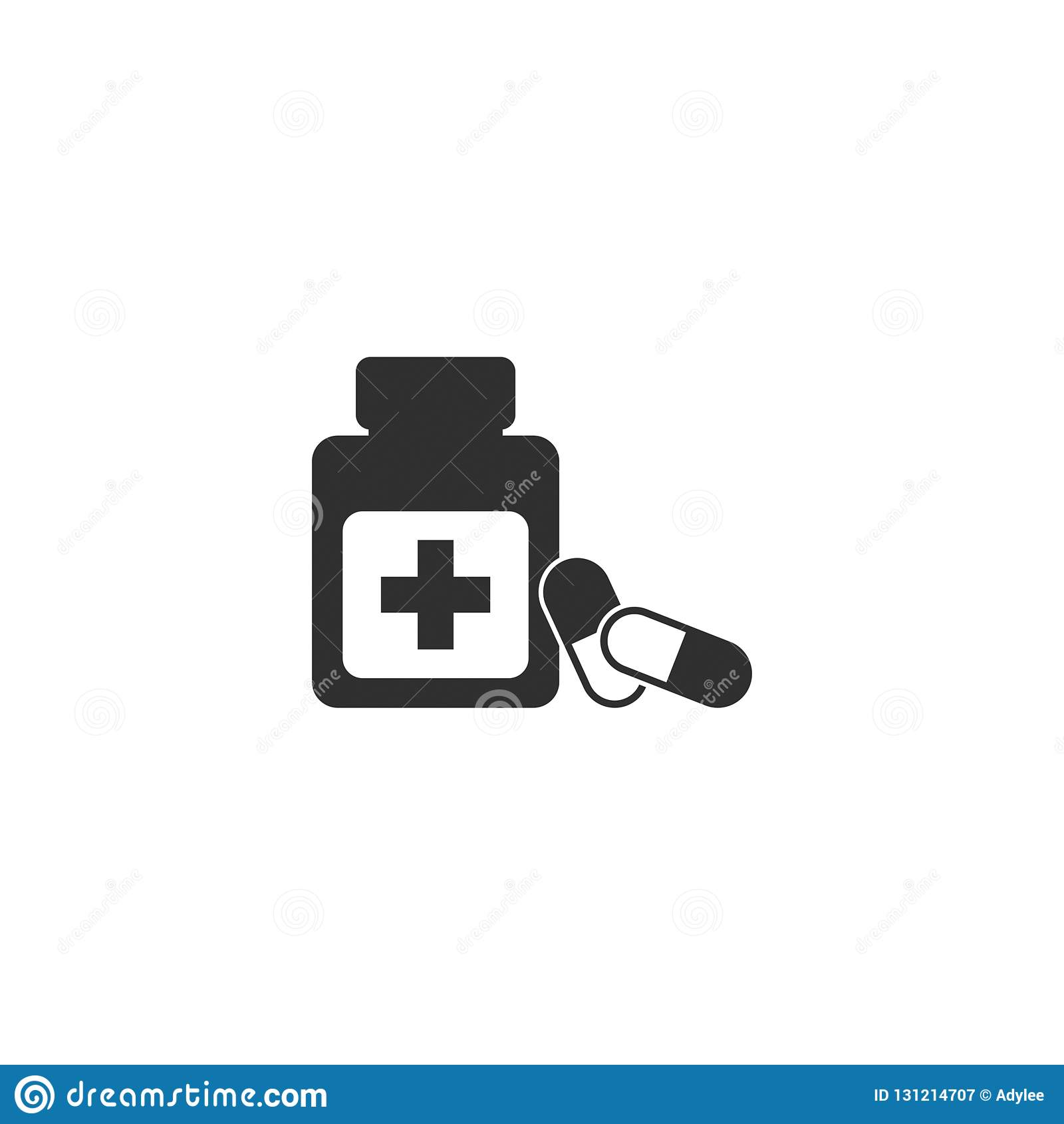 Stock vector pill icon 3