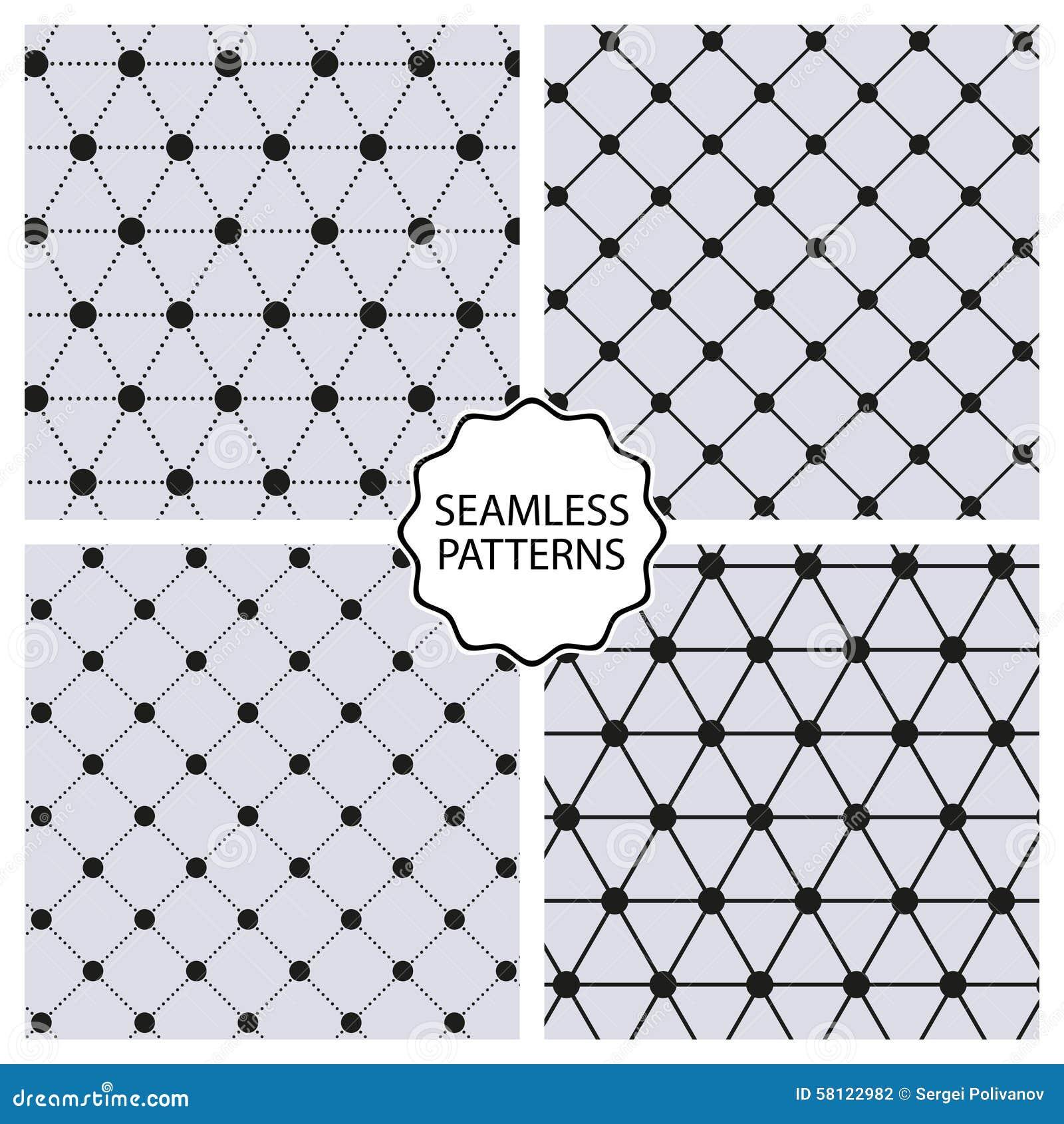 Stock Vector Set seamless line patterns