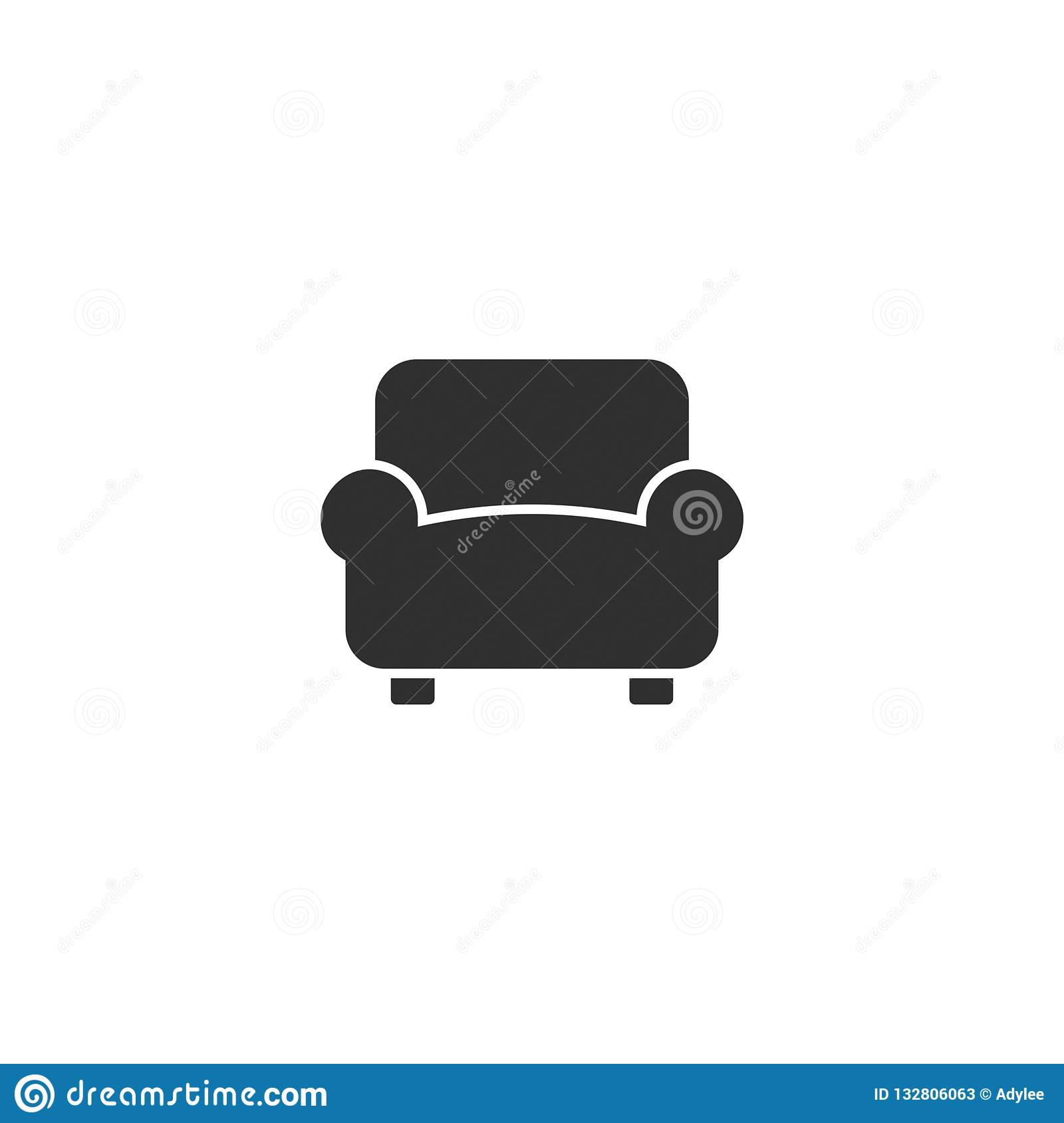 Sofa Icon Vector Isolated 5 Stock Image Illustration Of Vector