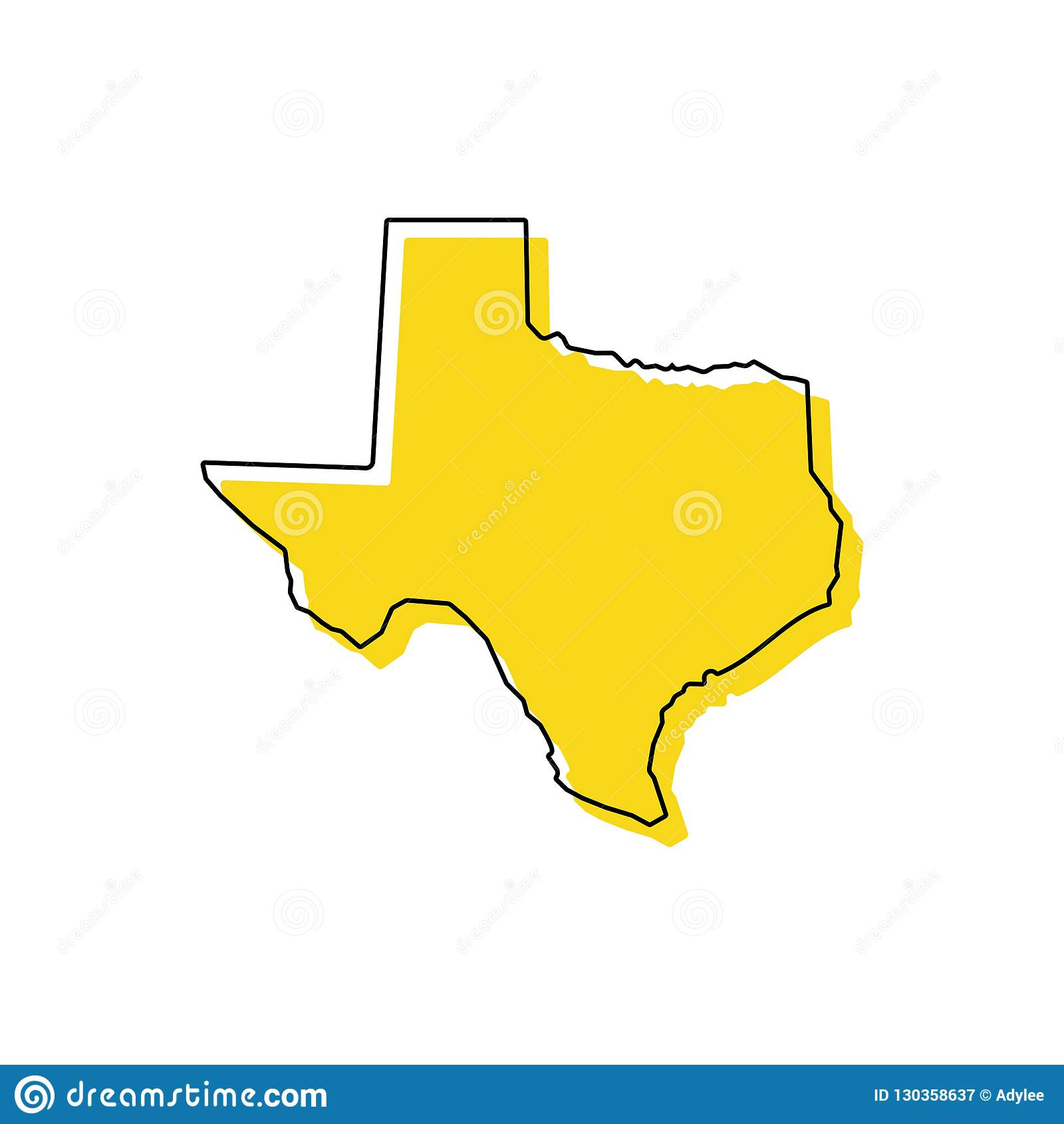 Stock Vector Texas Map Icon Vector Illustration 3 Stock