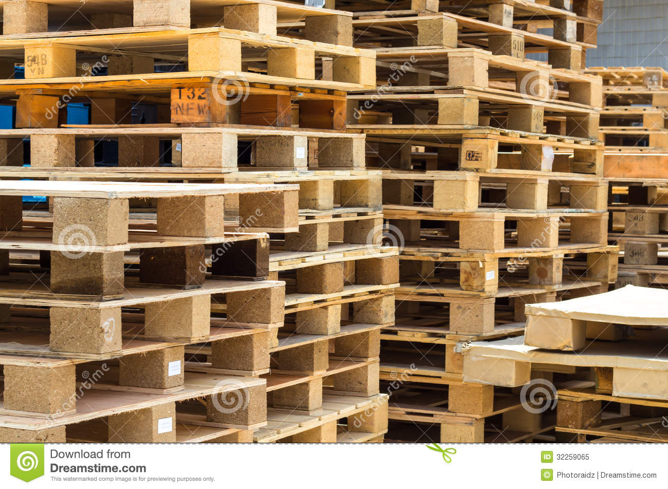 Stock wood pallet stock image. Image of depot, packaging ...