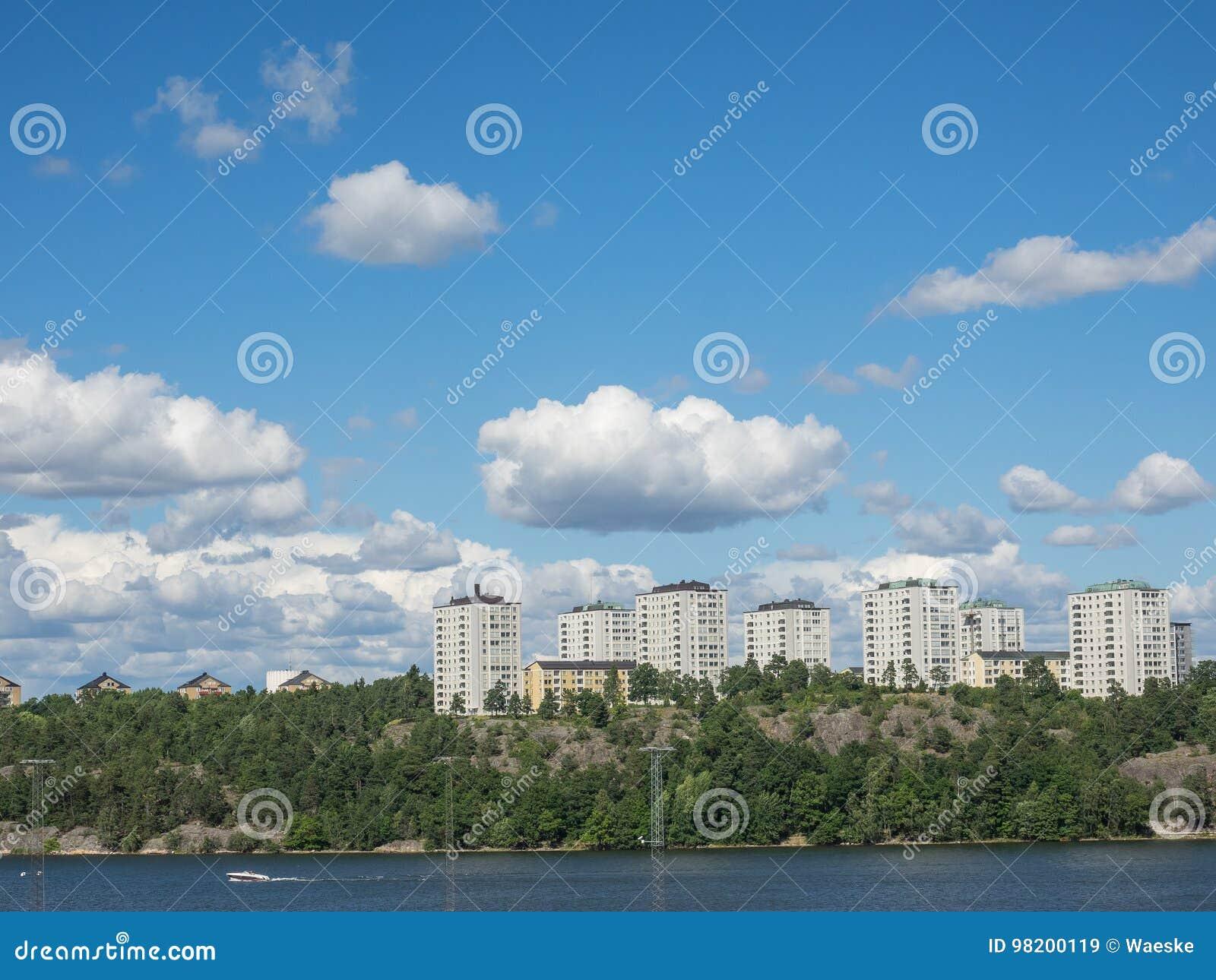 Download Stockholm Швеция стоковое изображение. изображение насчитывающей boated - 98200119