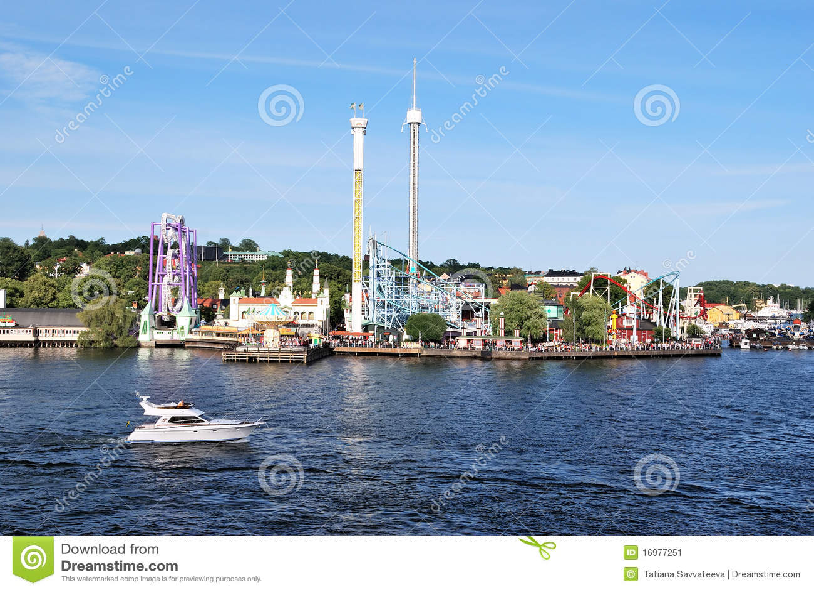 Stockholm. Park Grona Lund