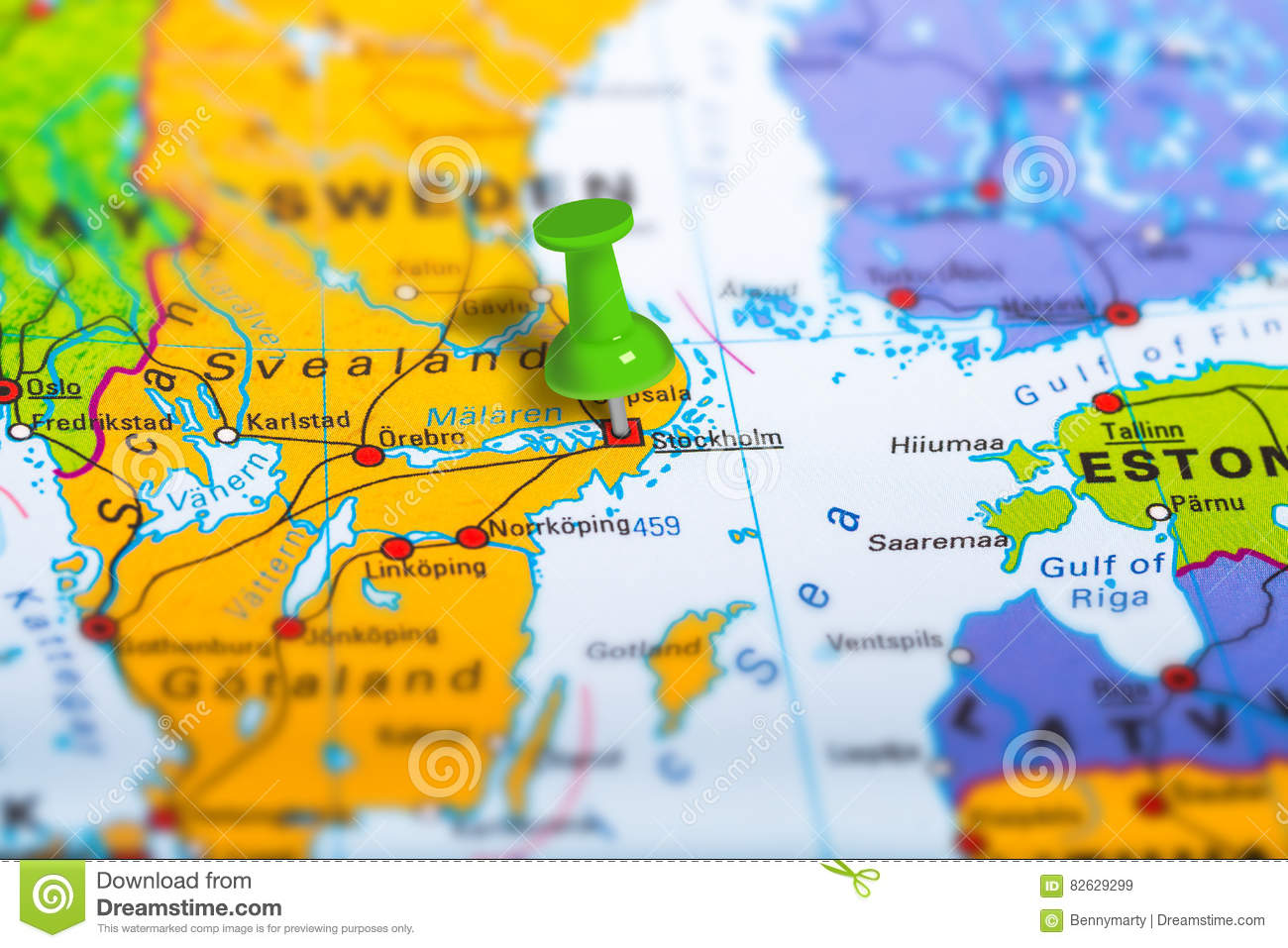 Stockholm Sweden map stock image Image of marking cartography