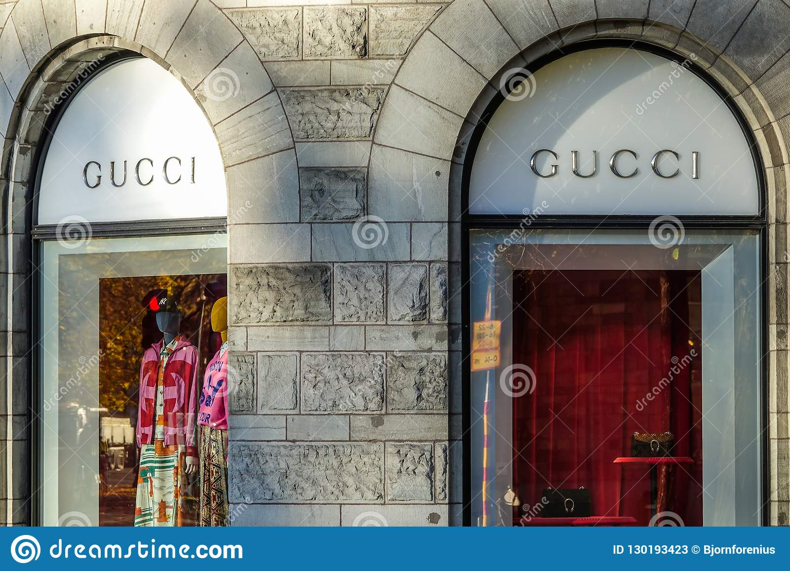 a17c978d400 Gucci Store Front. Italian Luxury Brand Of Fashion And Leather Goods ...