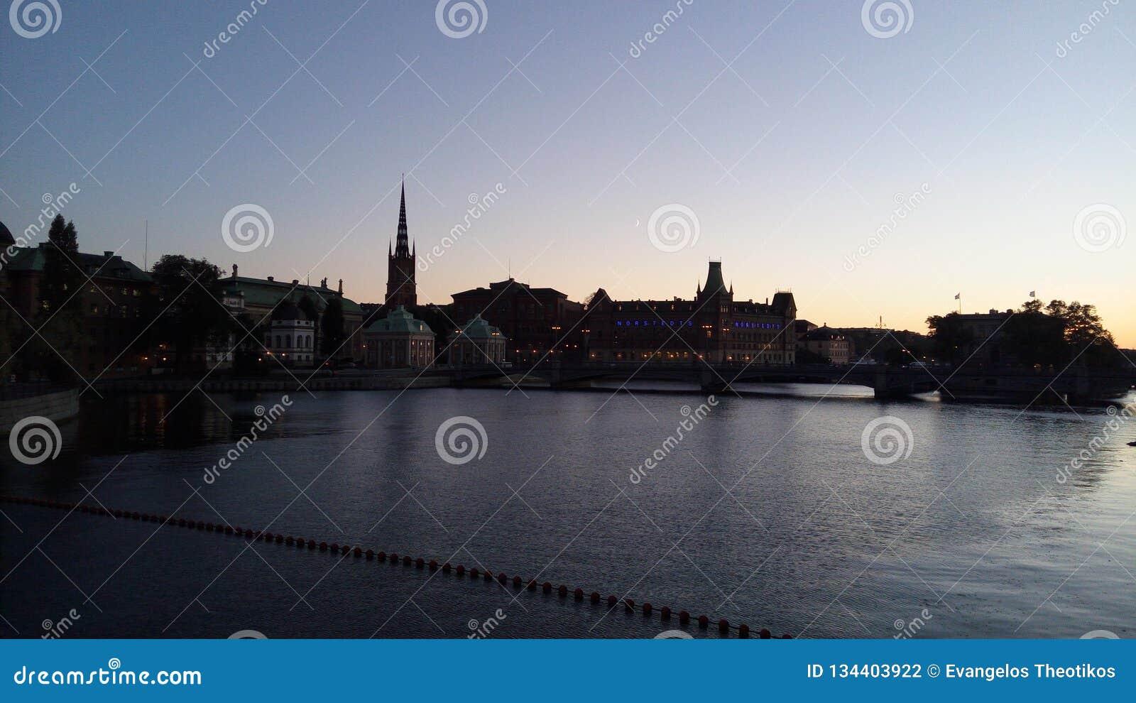 Stockholm zmierzch