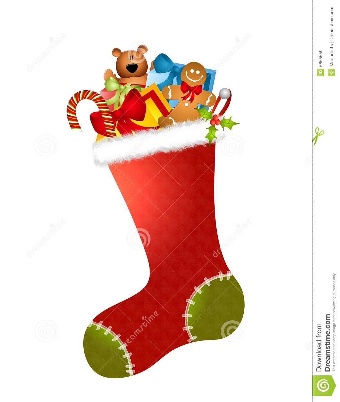 Stocking Full Of Toys Royalty Free Stock Images - Image: 6855559