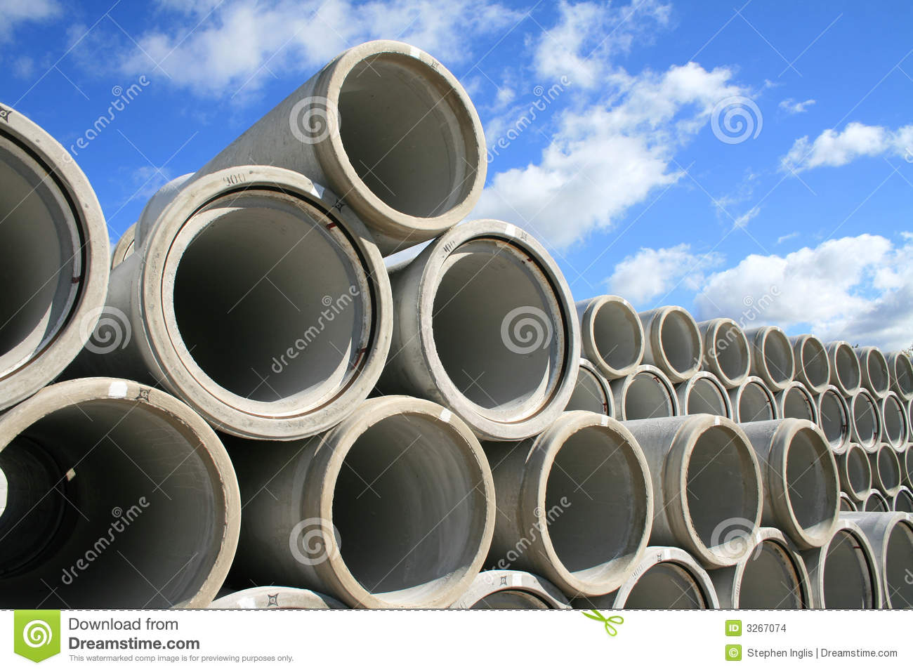 Stockpile Of Water Pipes Stock Photo Image Of Stacked