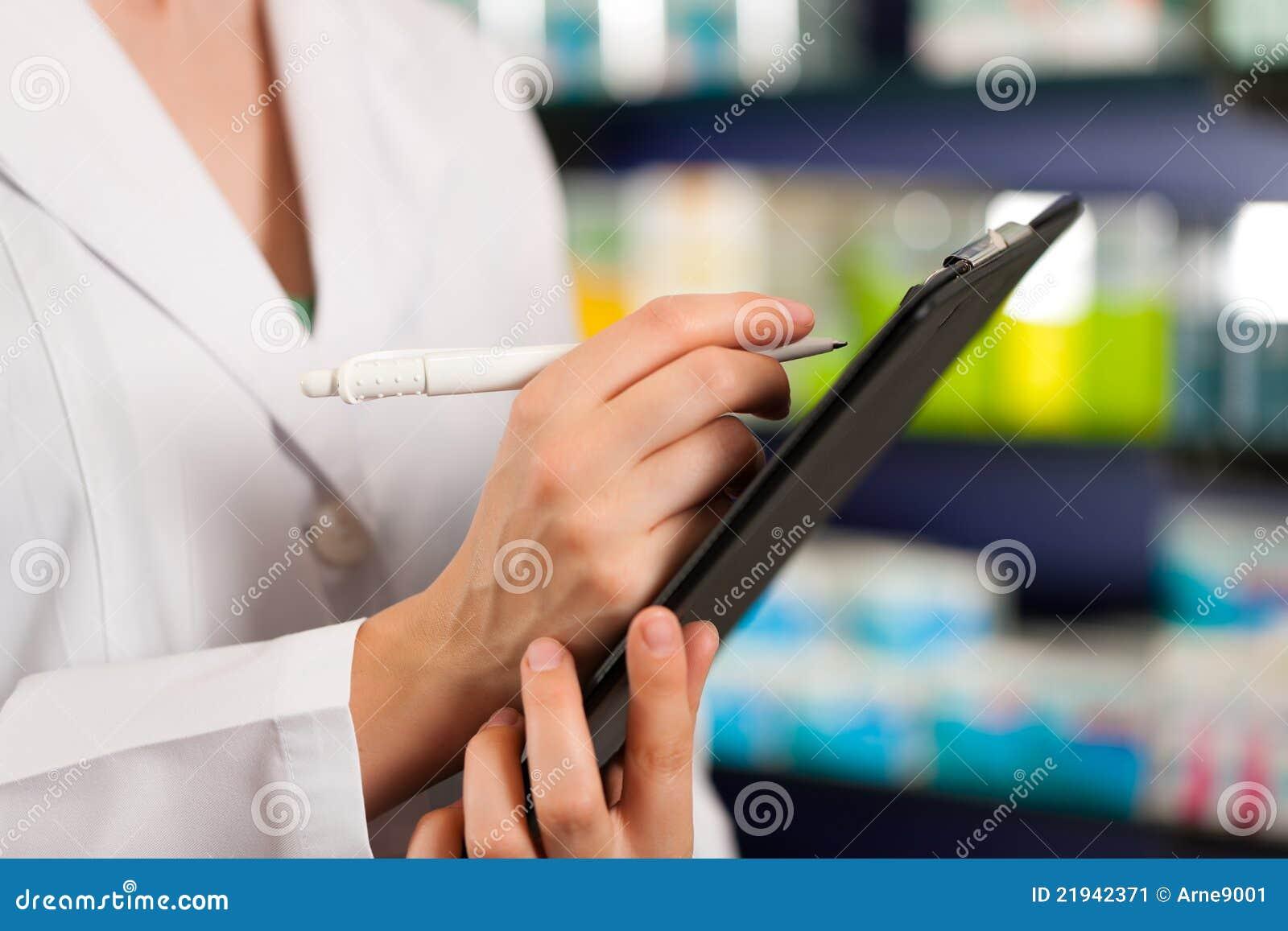 Stocks ou commande rentrant la pharmacie