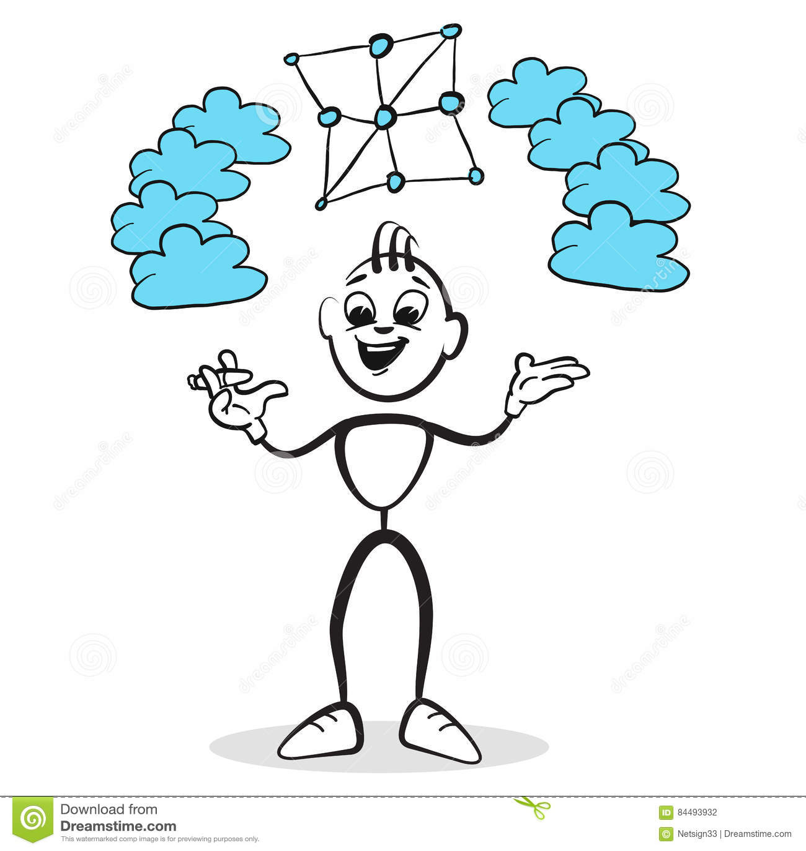 Stockzahl Reihengefühle - Netz-Wolke