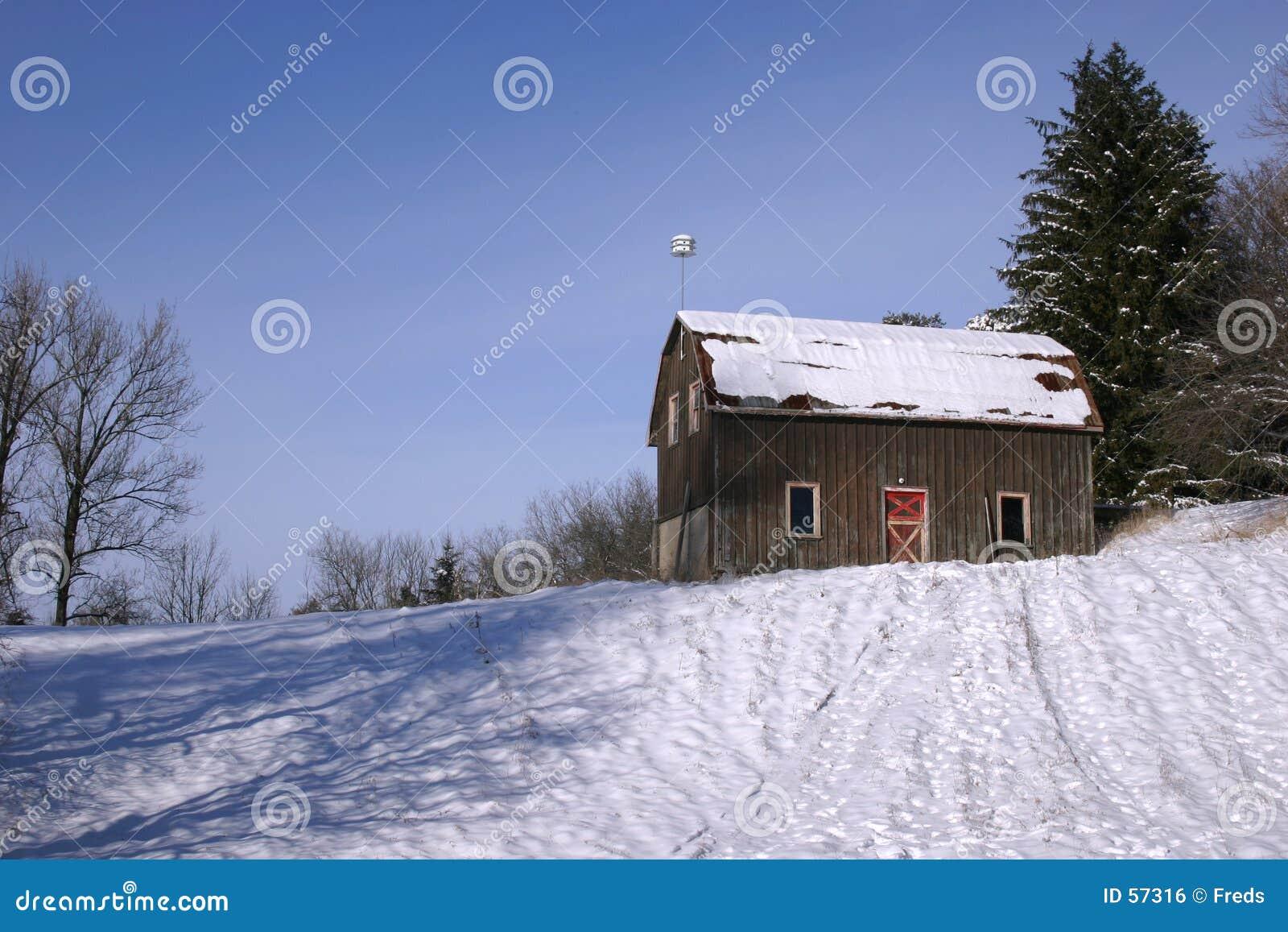 Stodoła śnieg