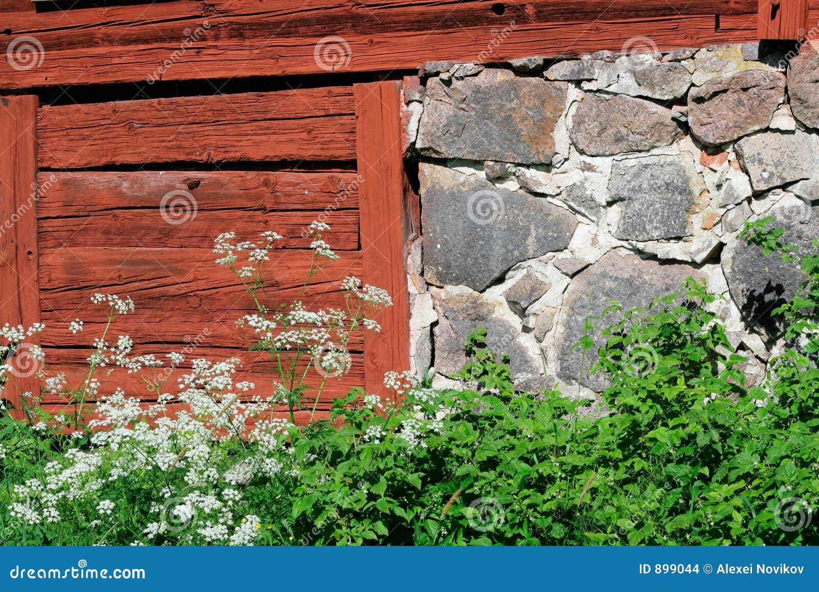 Stodoła wieśniaka ściany