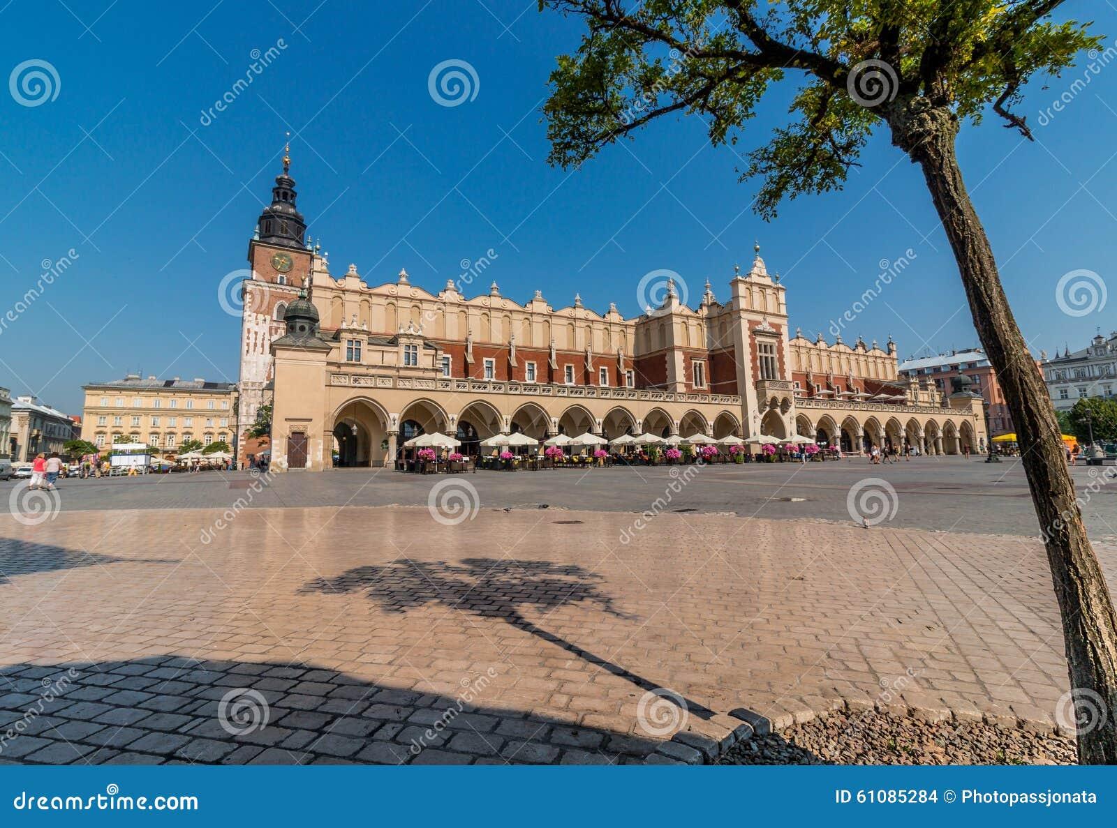 Stoff Hall (Sukiennice) - Hauptmarkt Quadrat-Krakau, Polen