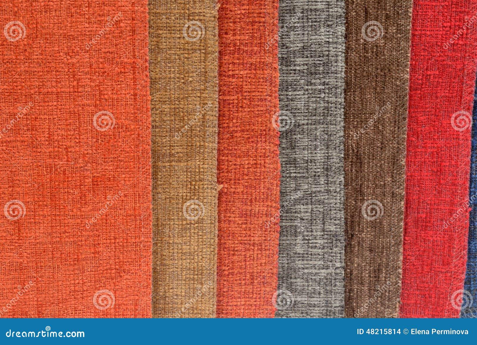 Stoffen van verschillende kleuren stock foto afbeelding