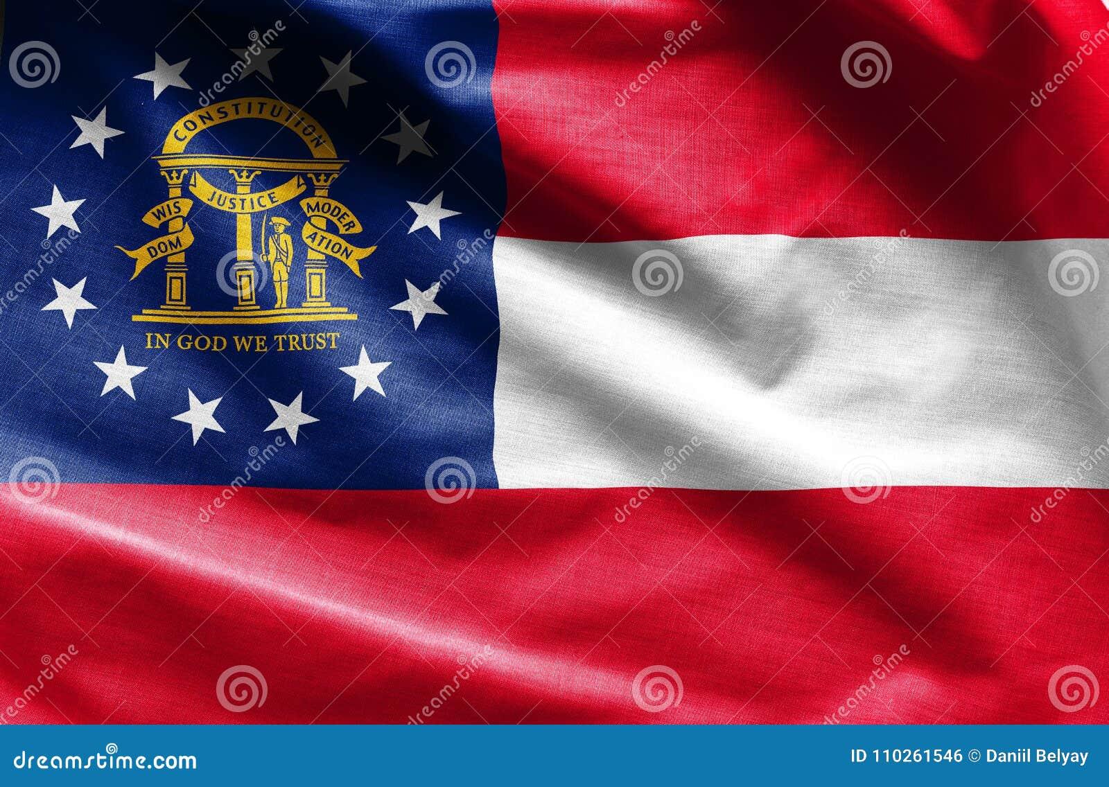 Stoffentextuur van Georgia Flag - Vlaggen van de V.S.