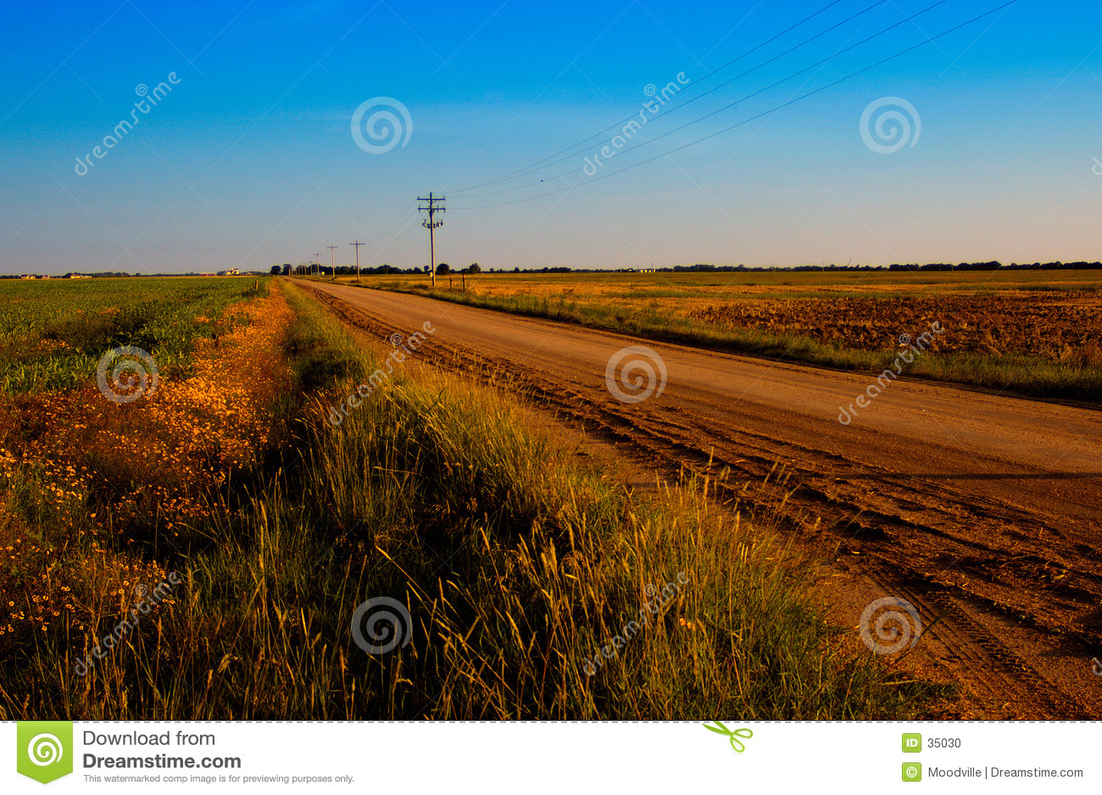 Stoffige Landweg