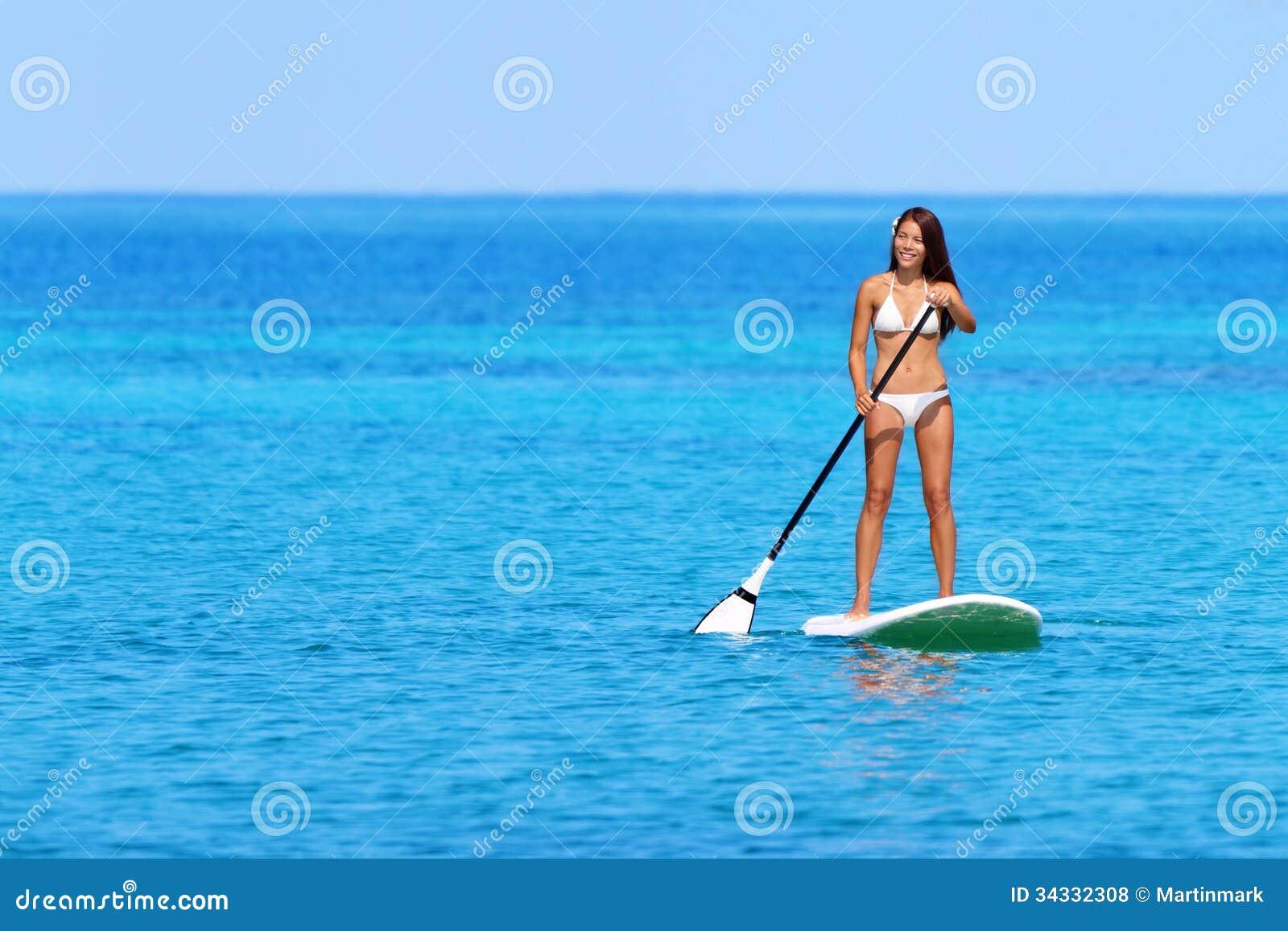Stoi up paddle deski kobiety paddleboarding