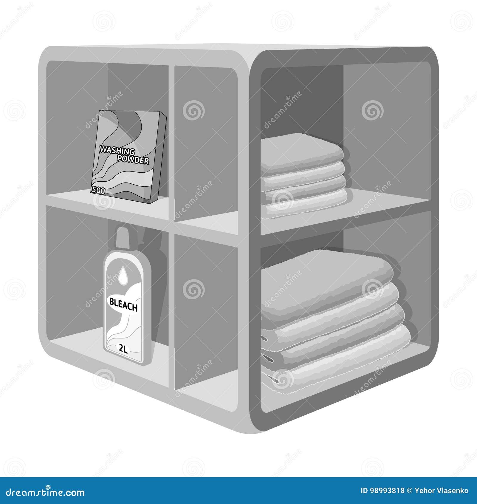 Stojak W łazience Dla Pralni I Detergentów Meble Pojedyncza