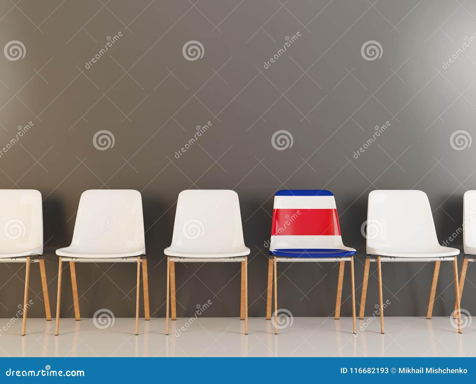 Stol med flaggan av Costa Rica