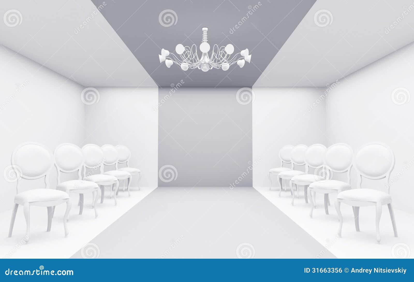 Stolar i vitt rum