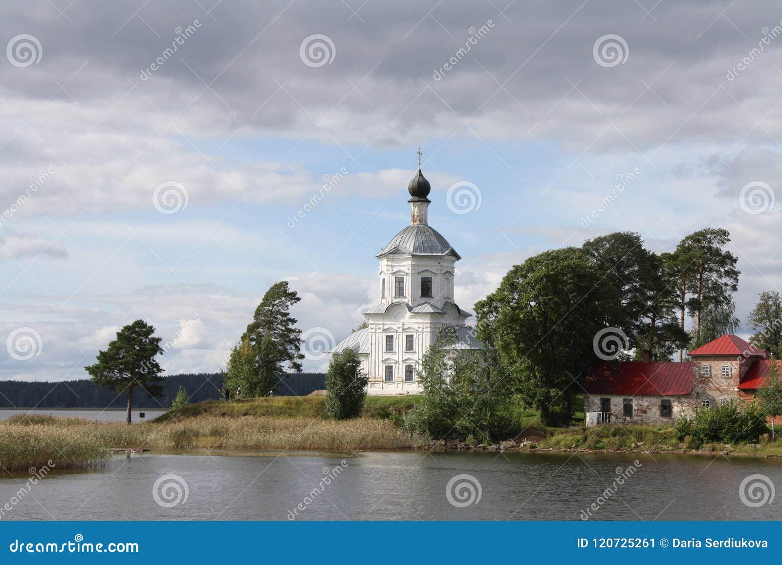 Stolobny wyspa, Nilov monaster, Seliger jezioro w Rosja