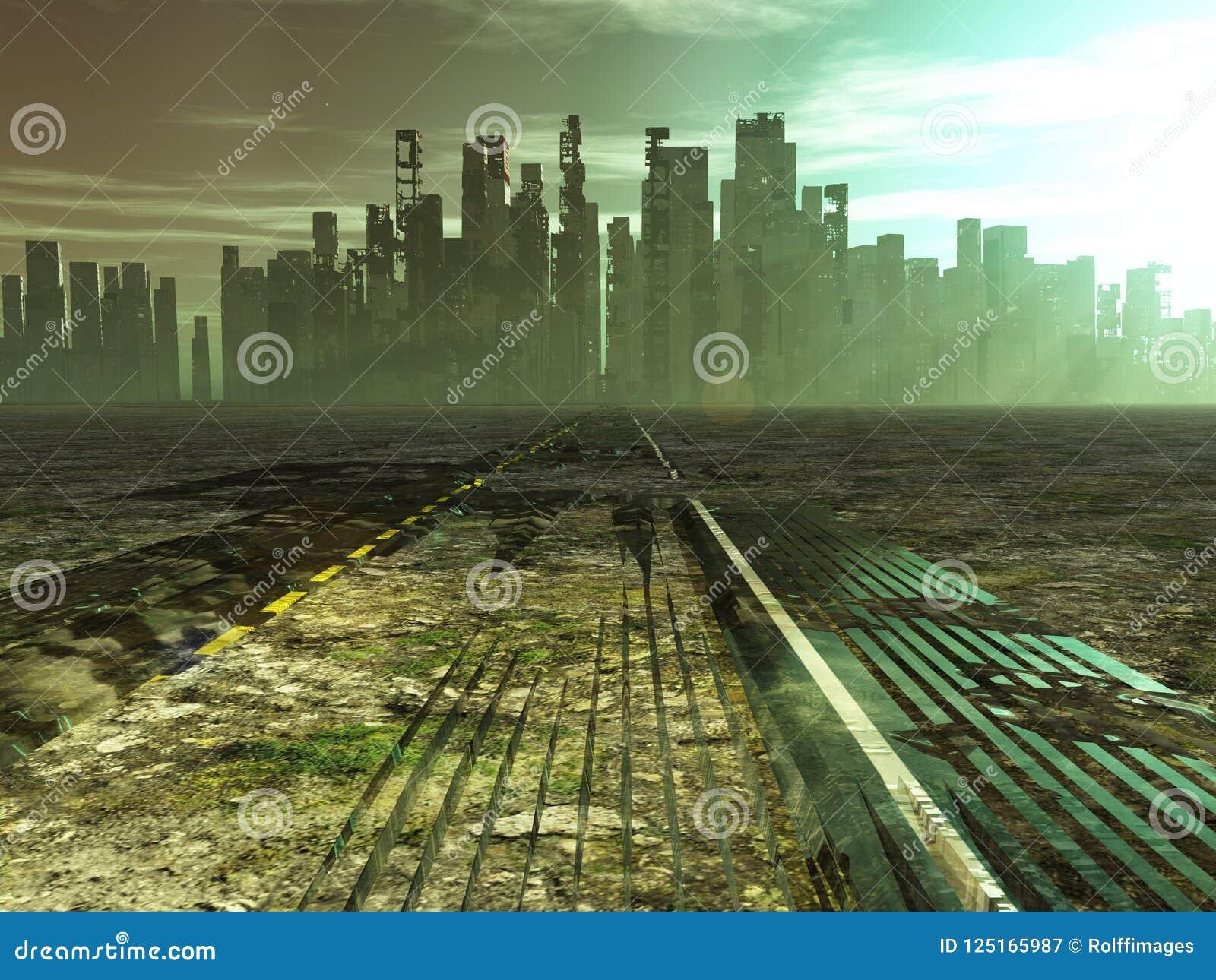 Stolpe-apokalyptisk stad