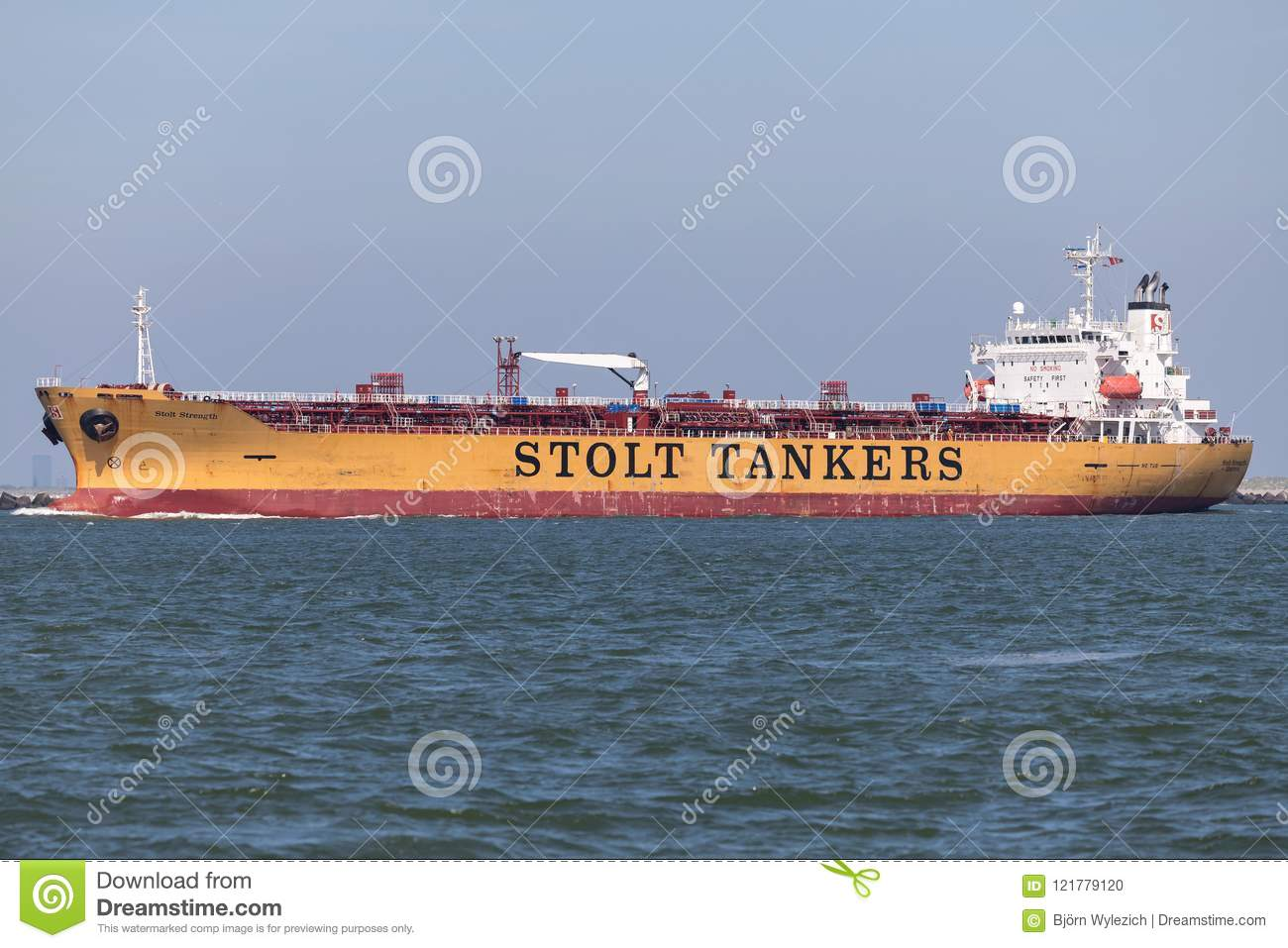 Chemical Tanker STOLT STRENGH Outbound Rotterdam  Editorial Image