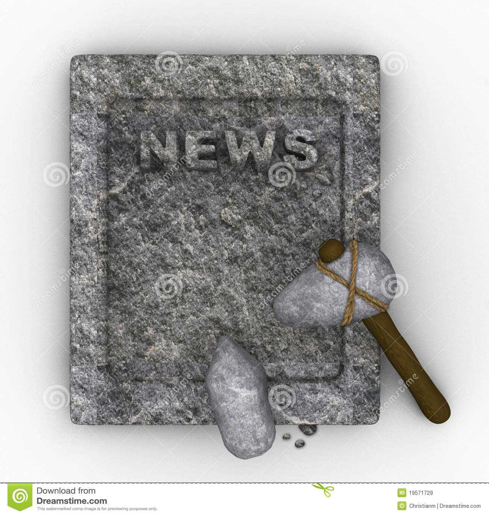Stone age newspaper