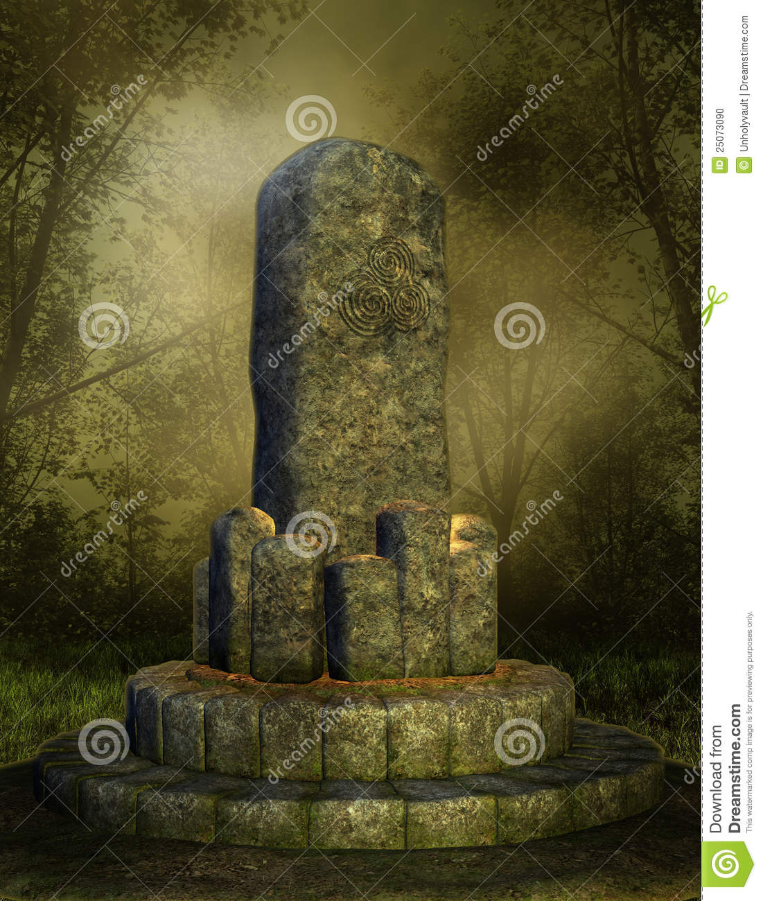 Stone Altar In A Forest Stock Photo - Image: 25073090 Ancient Ruins Fantasy