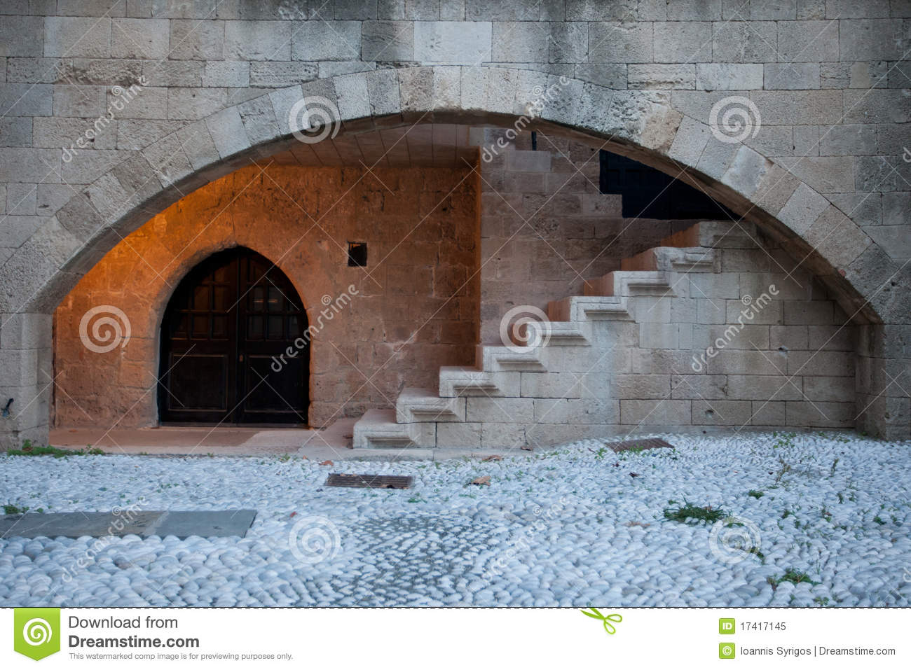stone arch and stairs stock image image of brick medieval 17417145. Black Bedroom Furniture Sets. Home Design Ideas