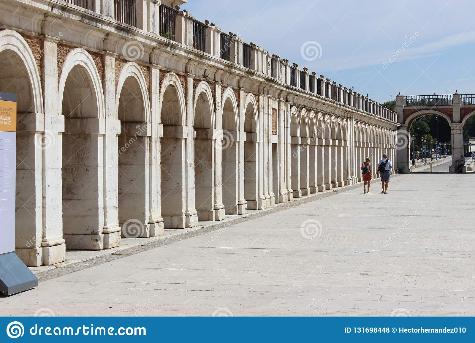 Stone arches in Aranjuez, Spain