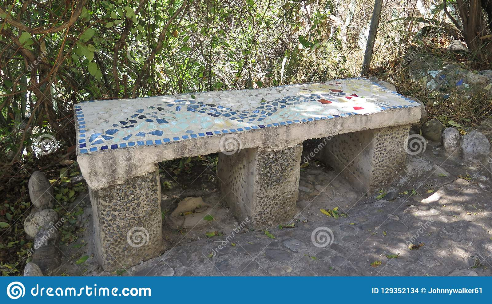 Magnificent Stone Bench In Shaded Garden Stock Photo Image Of Andrewgaddart Wooden Chair Designs For Living Room Andrewgaddartcom