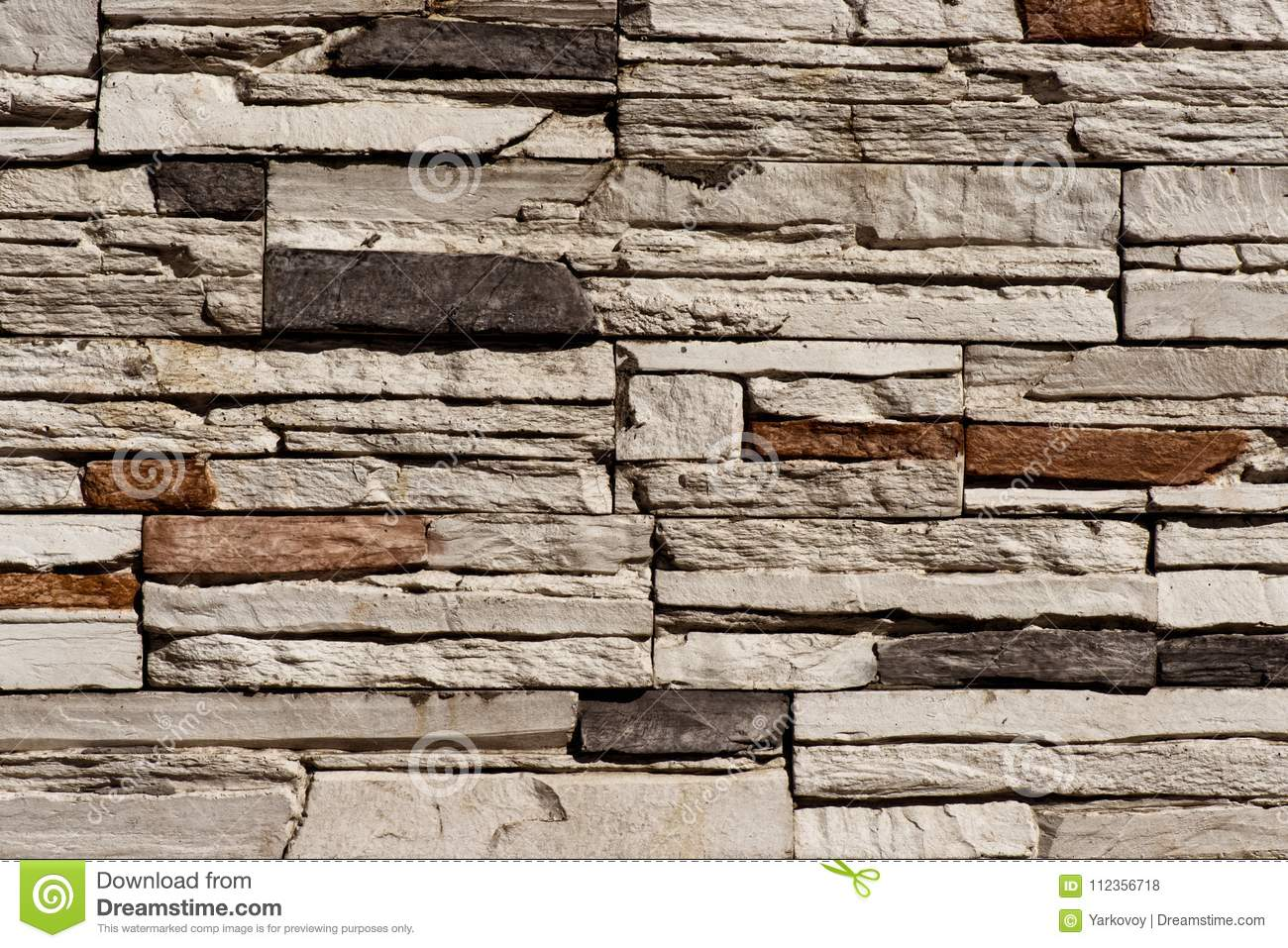. Stone Brick Wall Seamless Background   Texture Pattern For