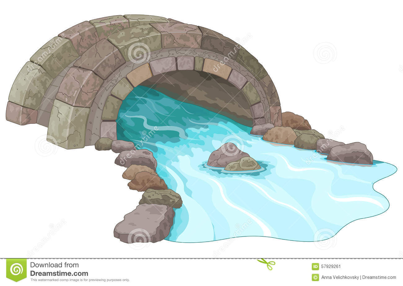 Stone Bridge Stock Vector - Image: 57929261