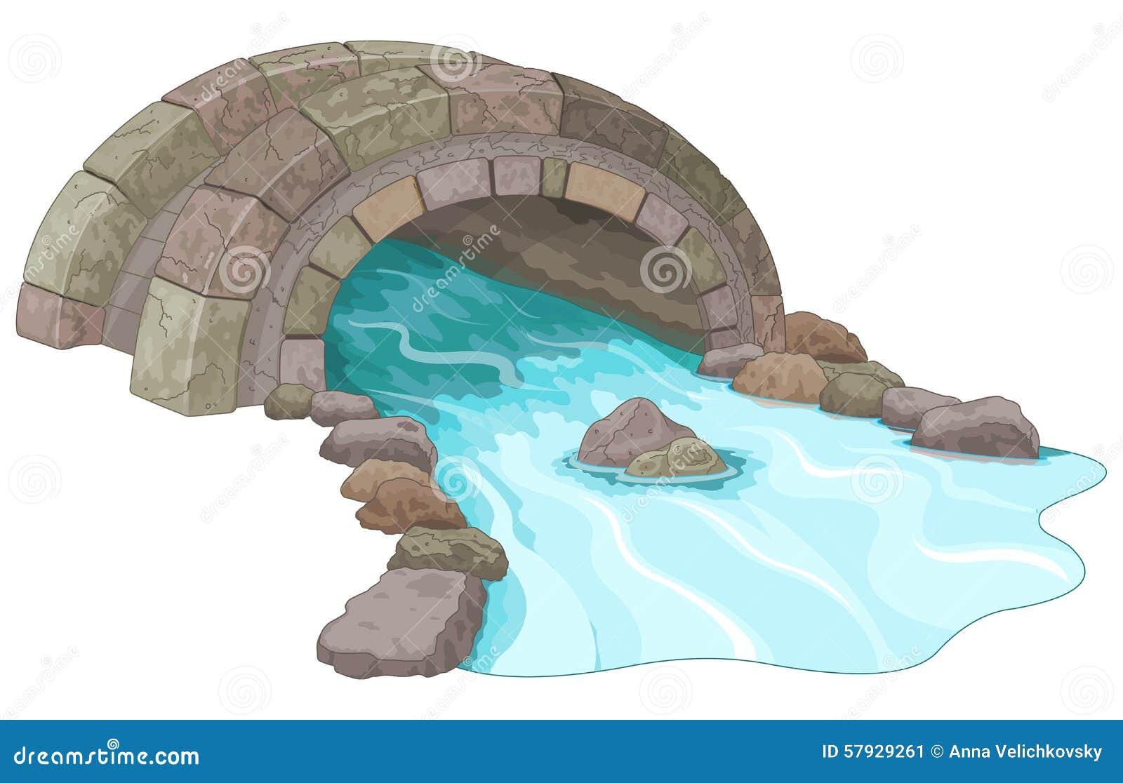 Stone Bridge Stock Vector - Image: 57929261