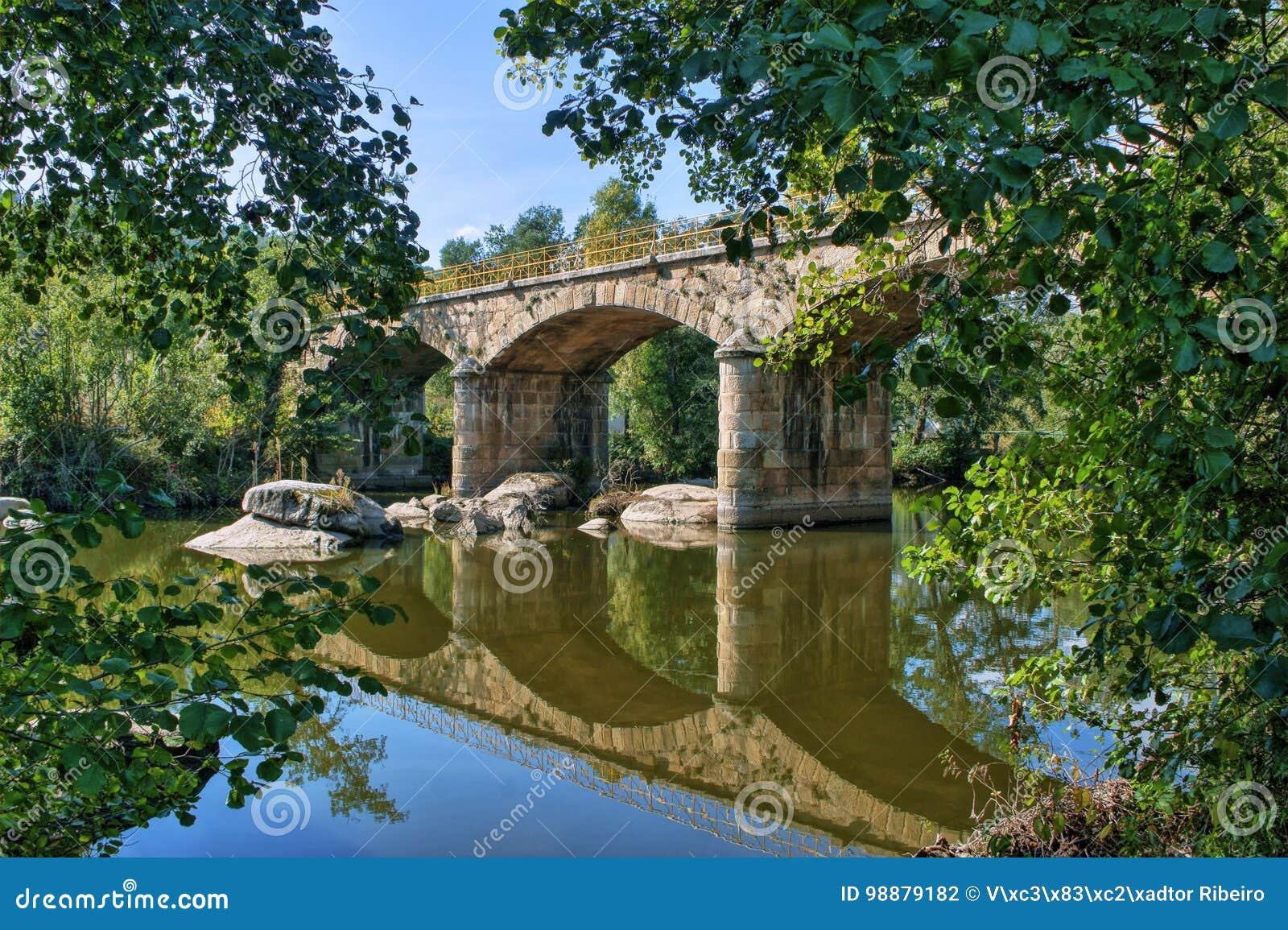 Download Stone Bridge Over Tamega River In Boticas Stock Photo - Image of flora, north: 98879182
