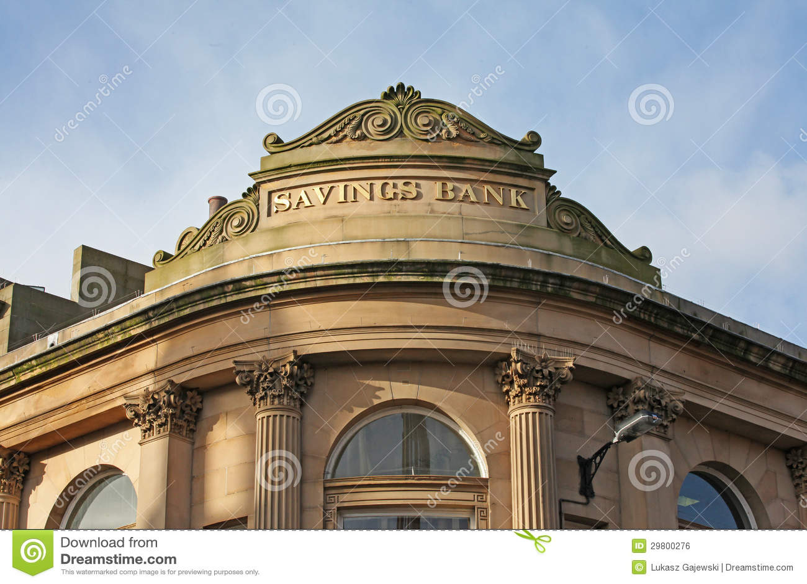 Savings bank royalty free stock image