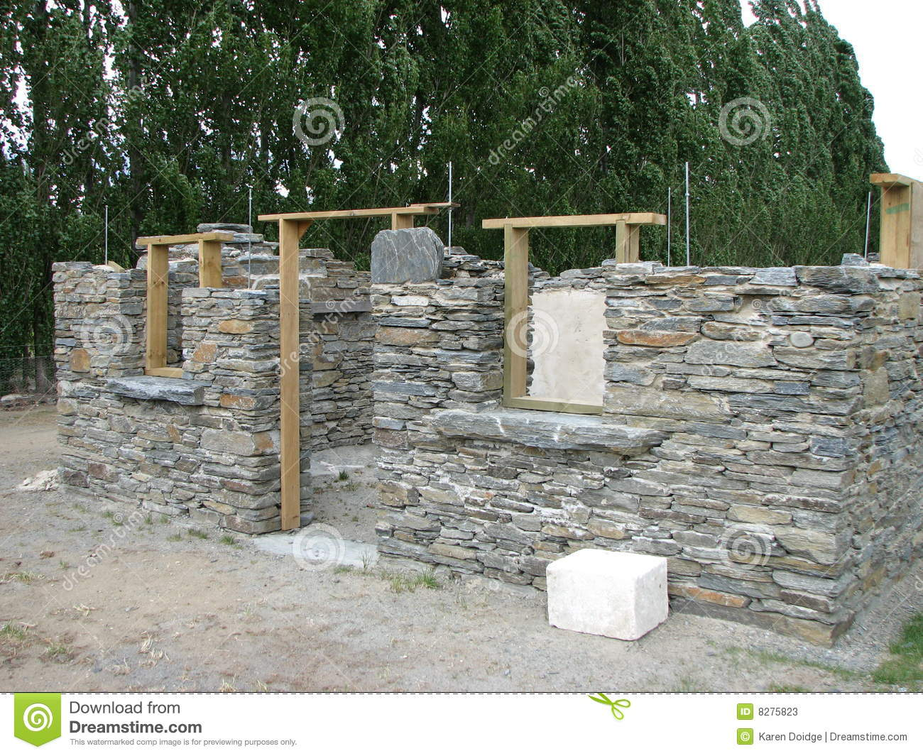 Stone Building Under Construction Stock Image Image Of