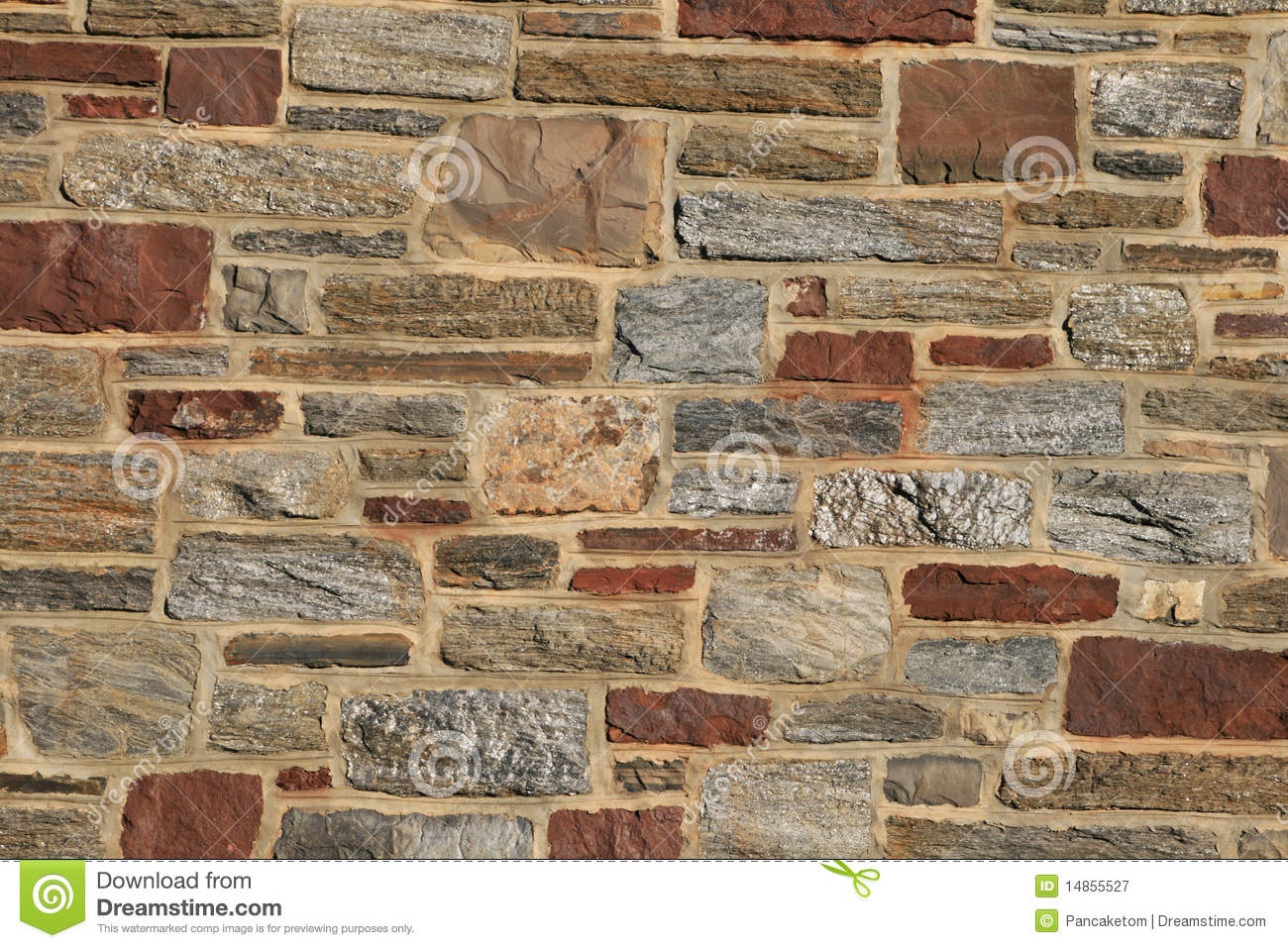 Stone building wall