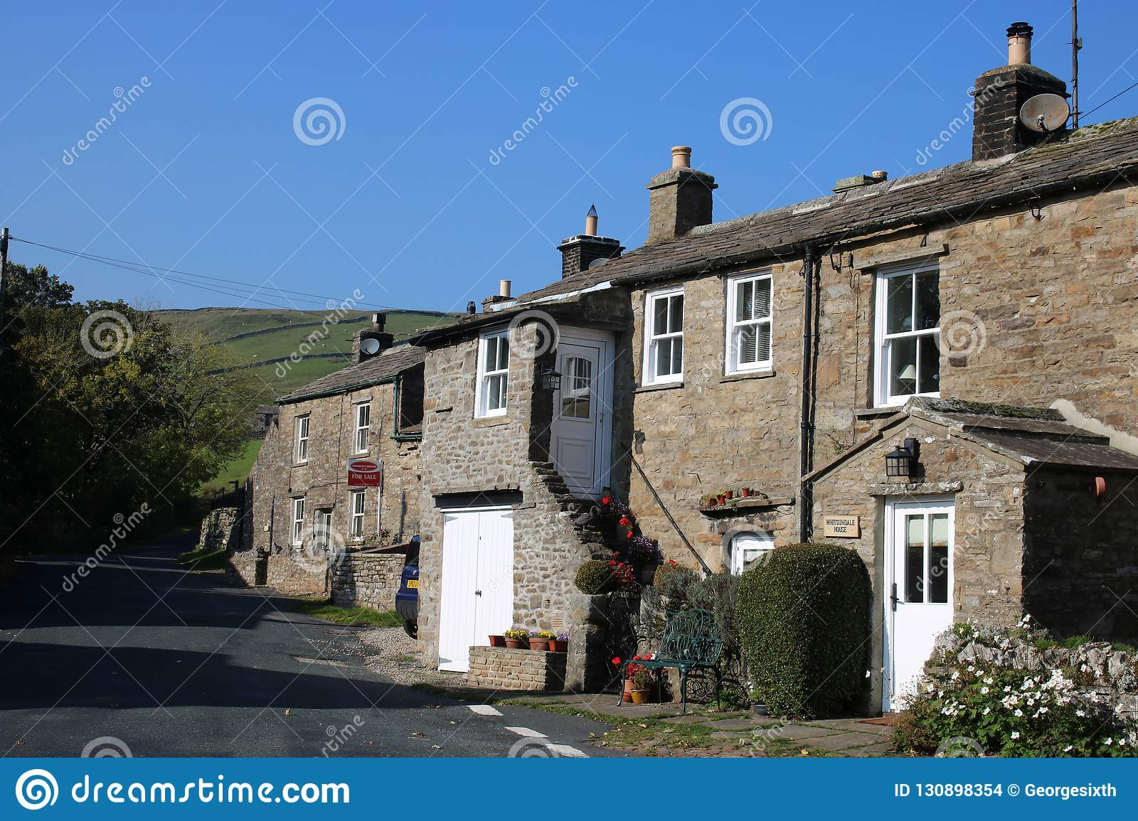 Remarkable Stone Built Cottages In Thwaite Swaledale Uk Stock Photo Interior Design Ideas Pimpapslepicentreinfo