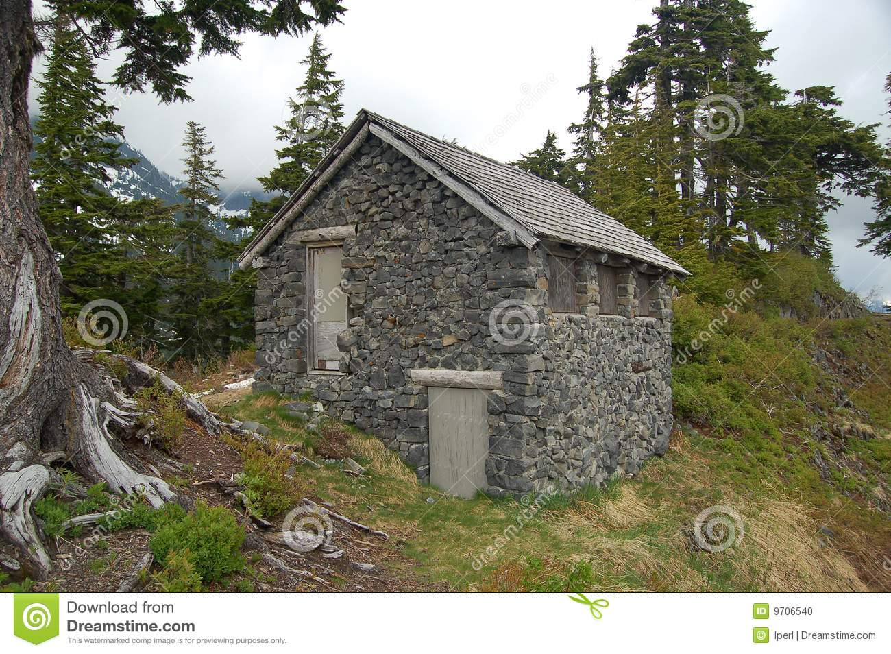 Stone Cabin Stock Photo Image Of Rustic Bricks Stone