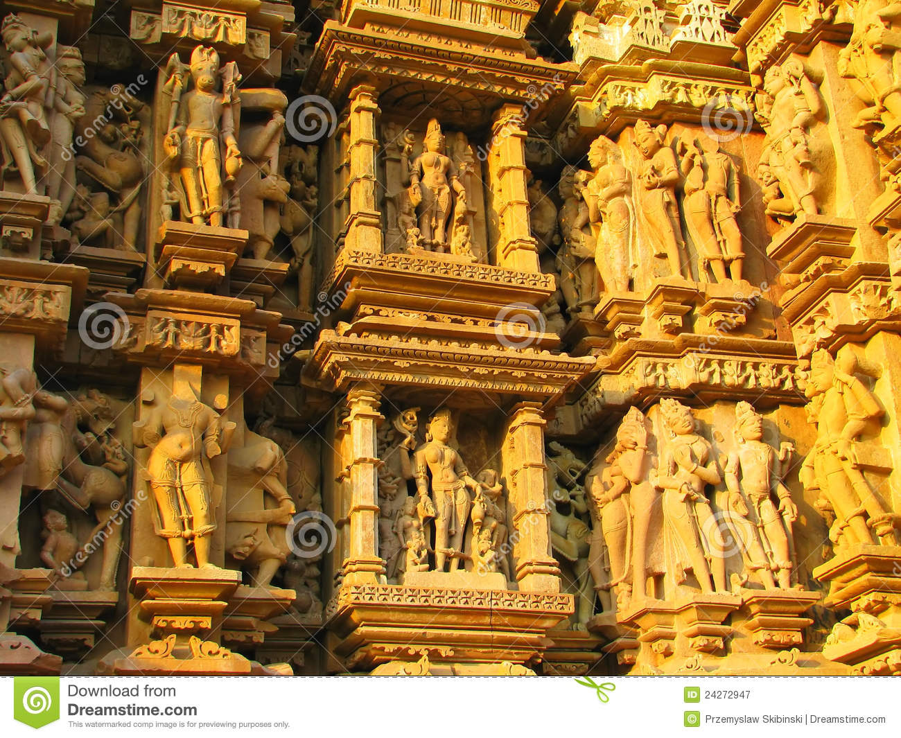 Stone carved erotic sculptures in khajuraho stock image