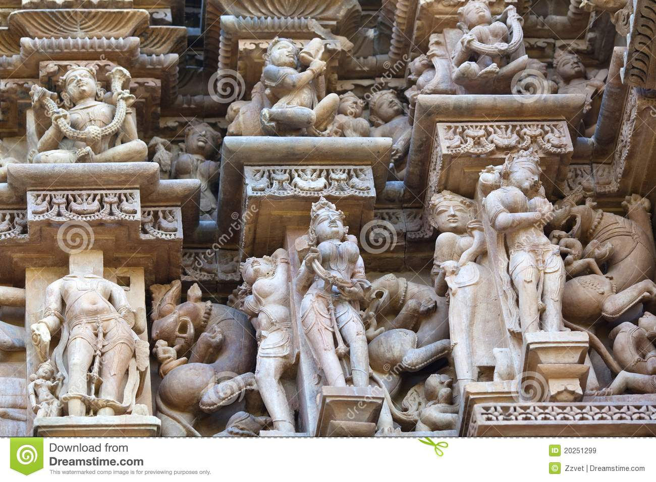 Stone carved in khajuraho india royalty free stock images