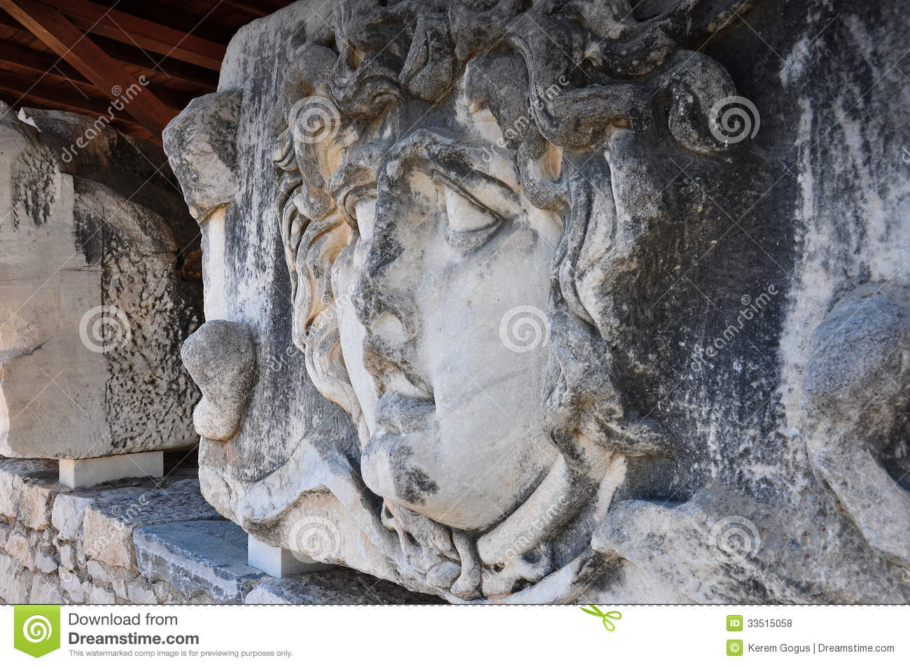 Stone carved statue stock photo image of artistic